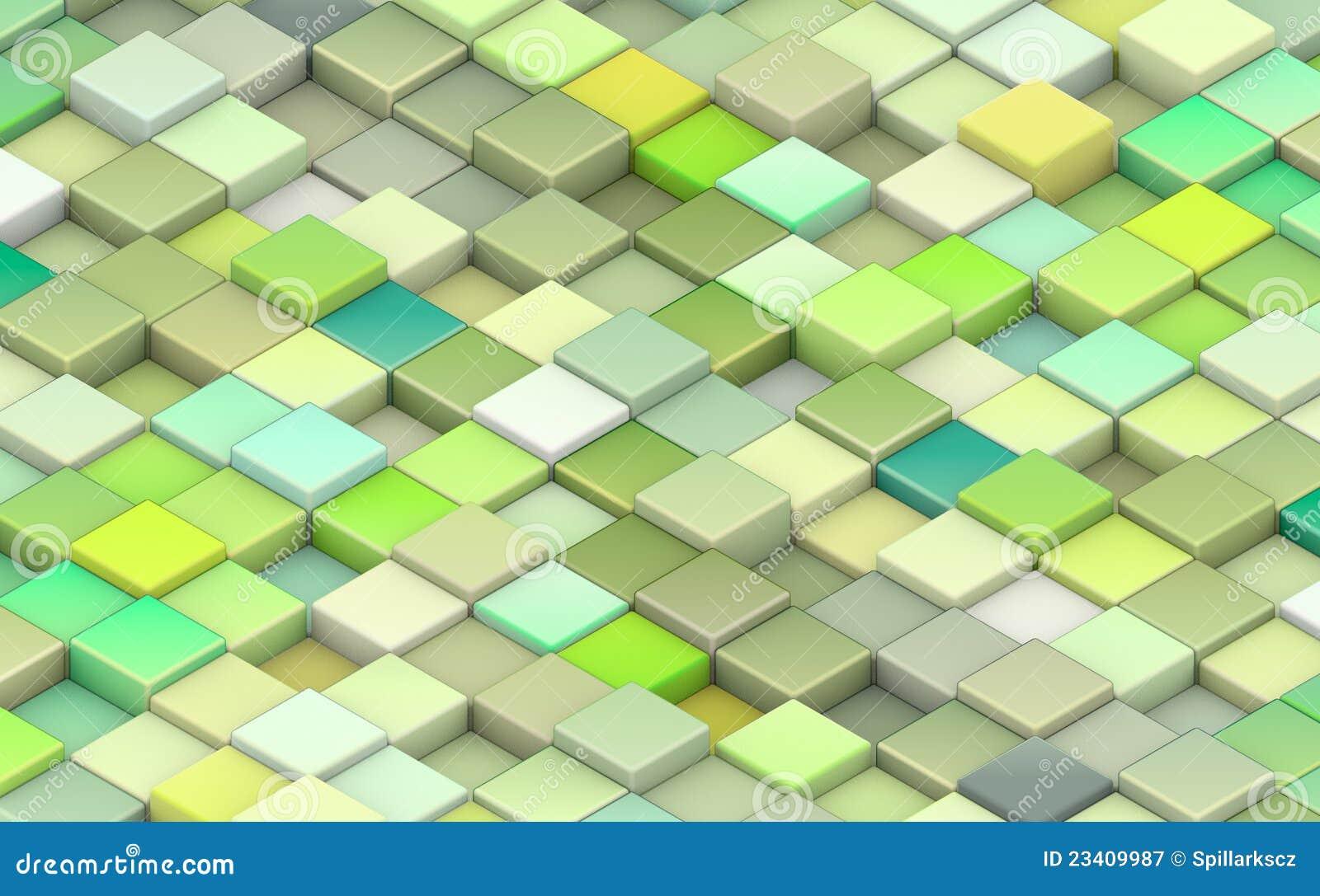 cubes 3d dans diff rentes nuances de vert photographie stock libre de droits image 23409987. Black Bedroom Furniture Sets. Home Design Ideas