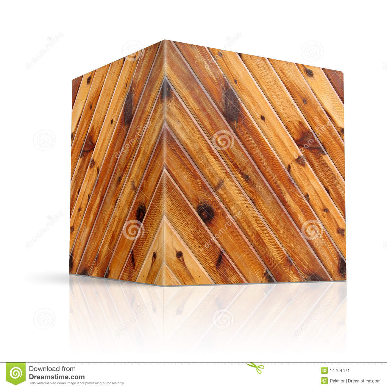 Cubes In Different Types Of Wood Stock Illustration