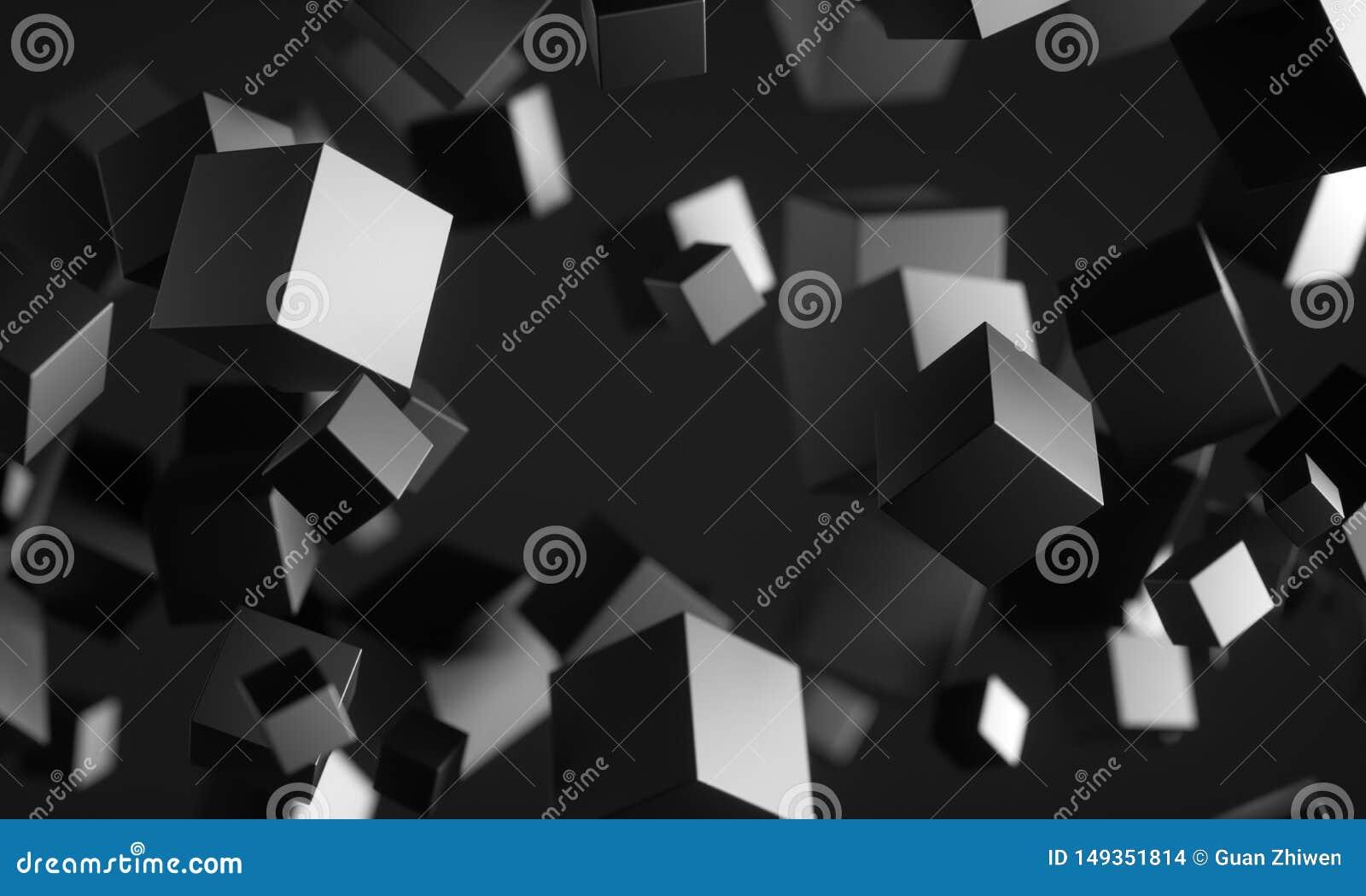 Cubes en Scifi dans l espace vide