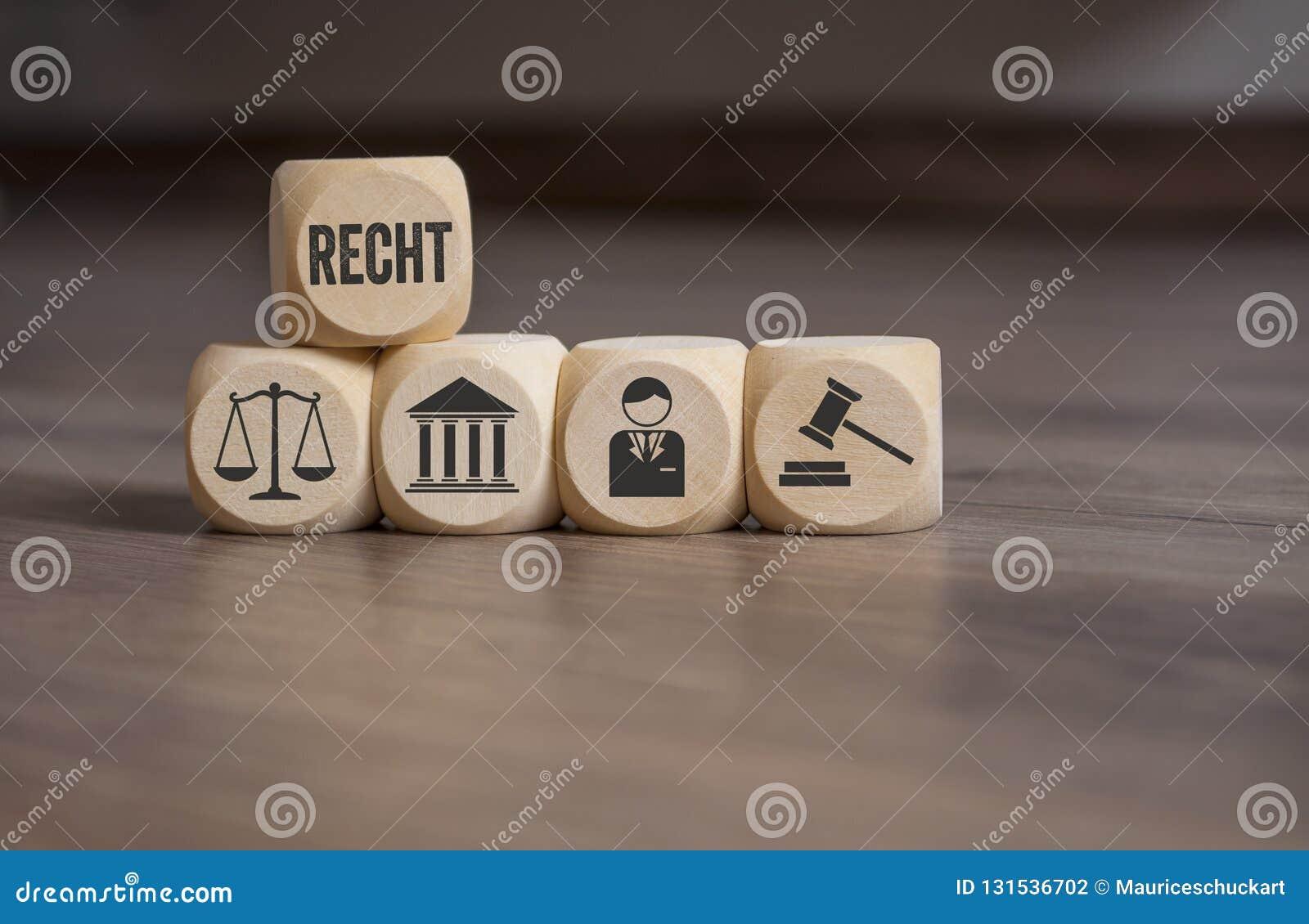 Cubes et matrices avec des symboles de loi