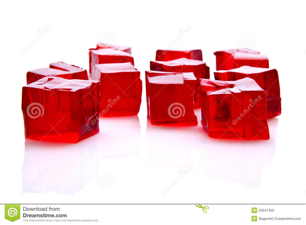 Download Cubes of red jelly stock photo. Image of pectin, strawberry - 23547450