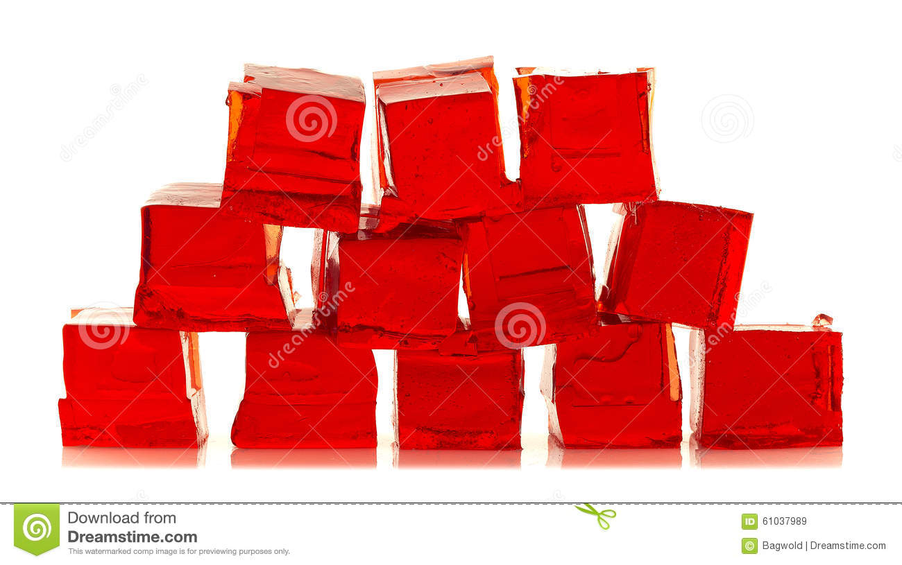 Download Cubes of red jelly stock image. Image of cubes, wobble - 61037989