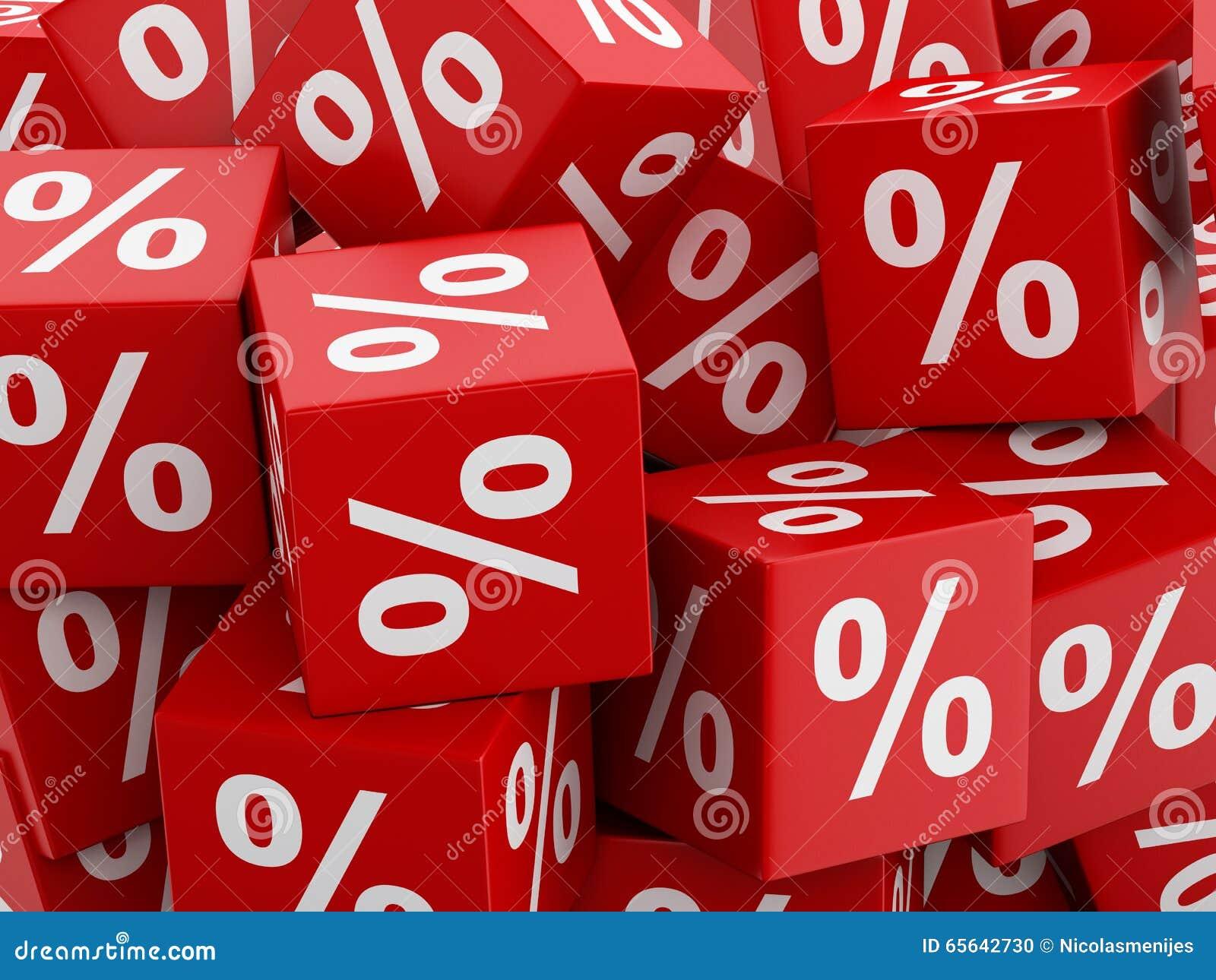 Cubes rouges en remise 3d