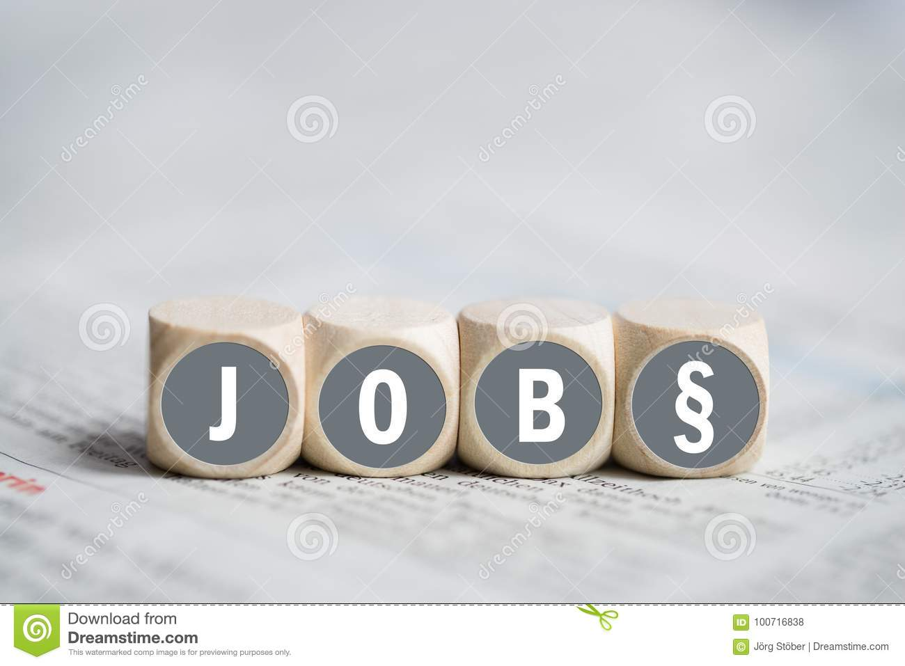 Cubes With The Word Job Stock Photo Image Of Company 100716838