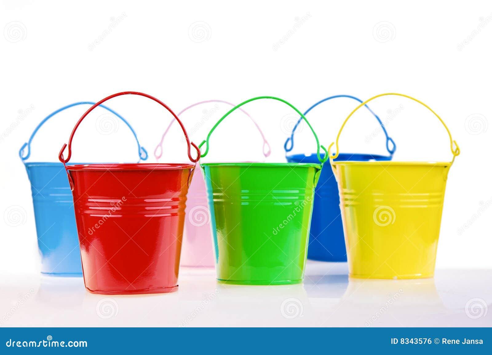 Cubetas coloridas