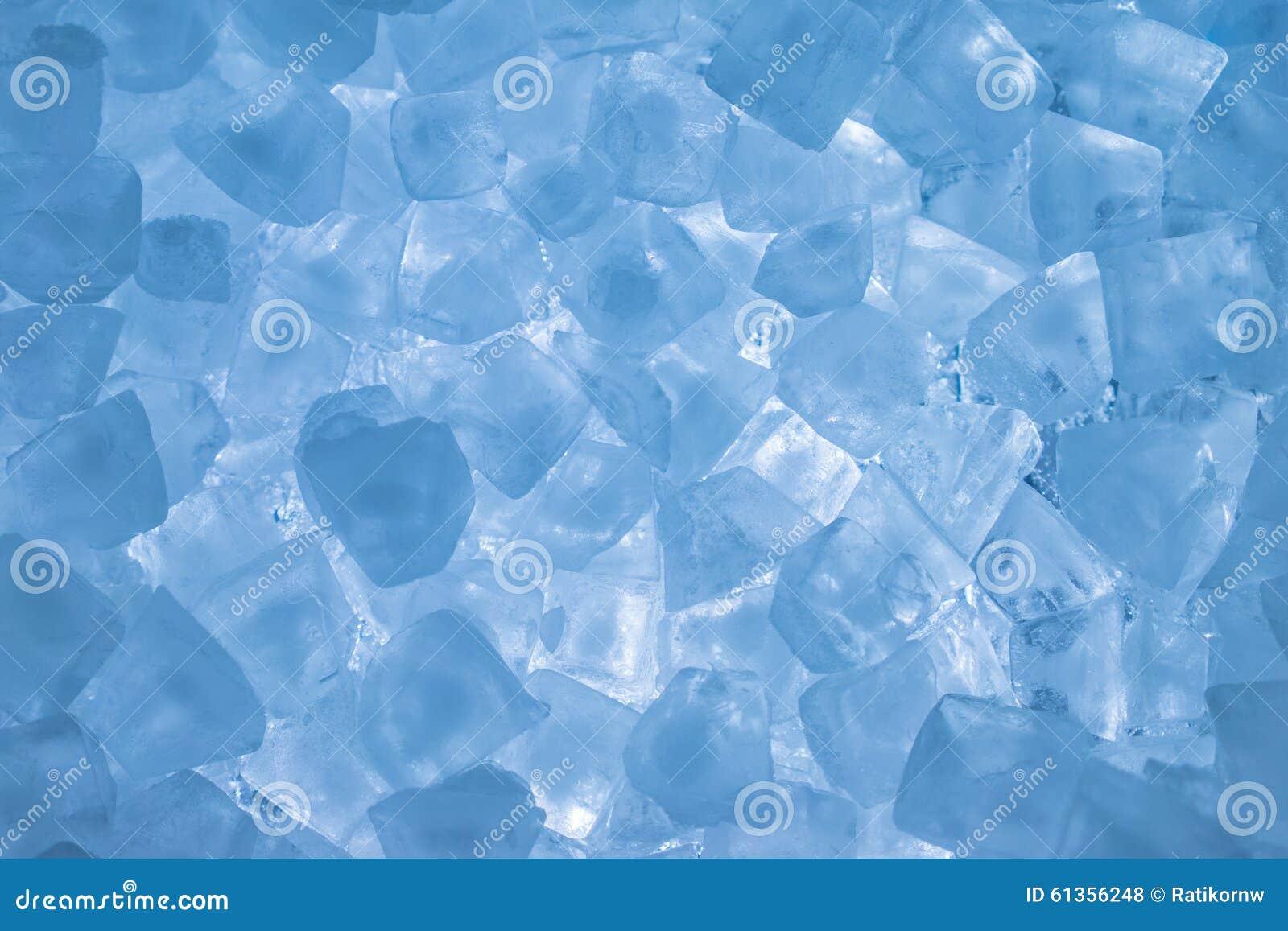 Cubetti Di Ghiaccio Con Colore Blu Chiaro Fotografia Stock