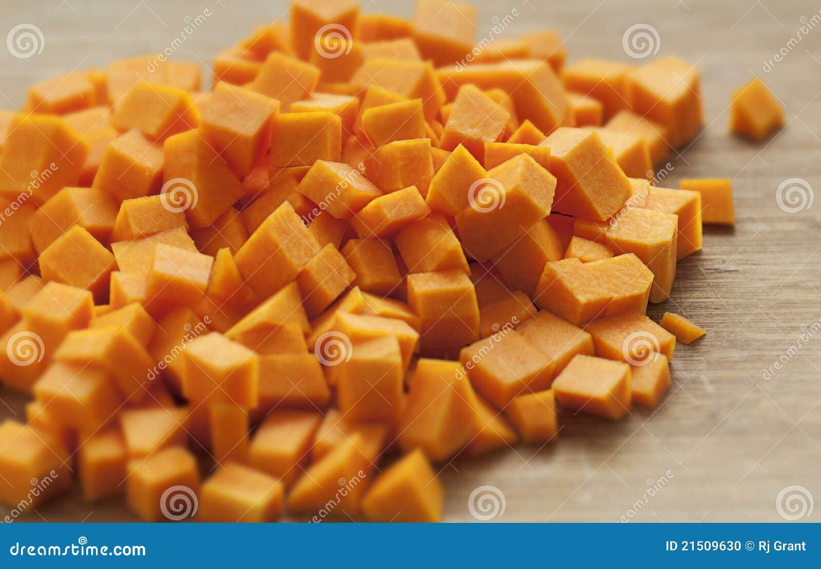 Cubi della zucca di Butternut