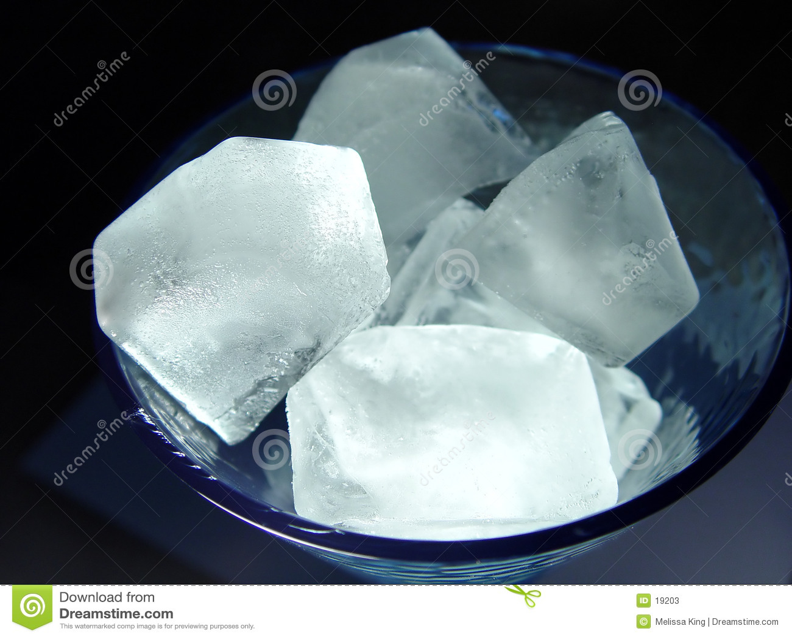 Cubi di ghiaccio in vetro