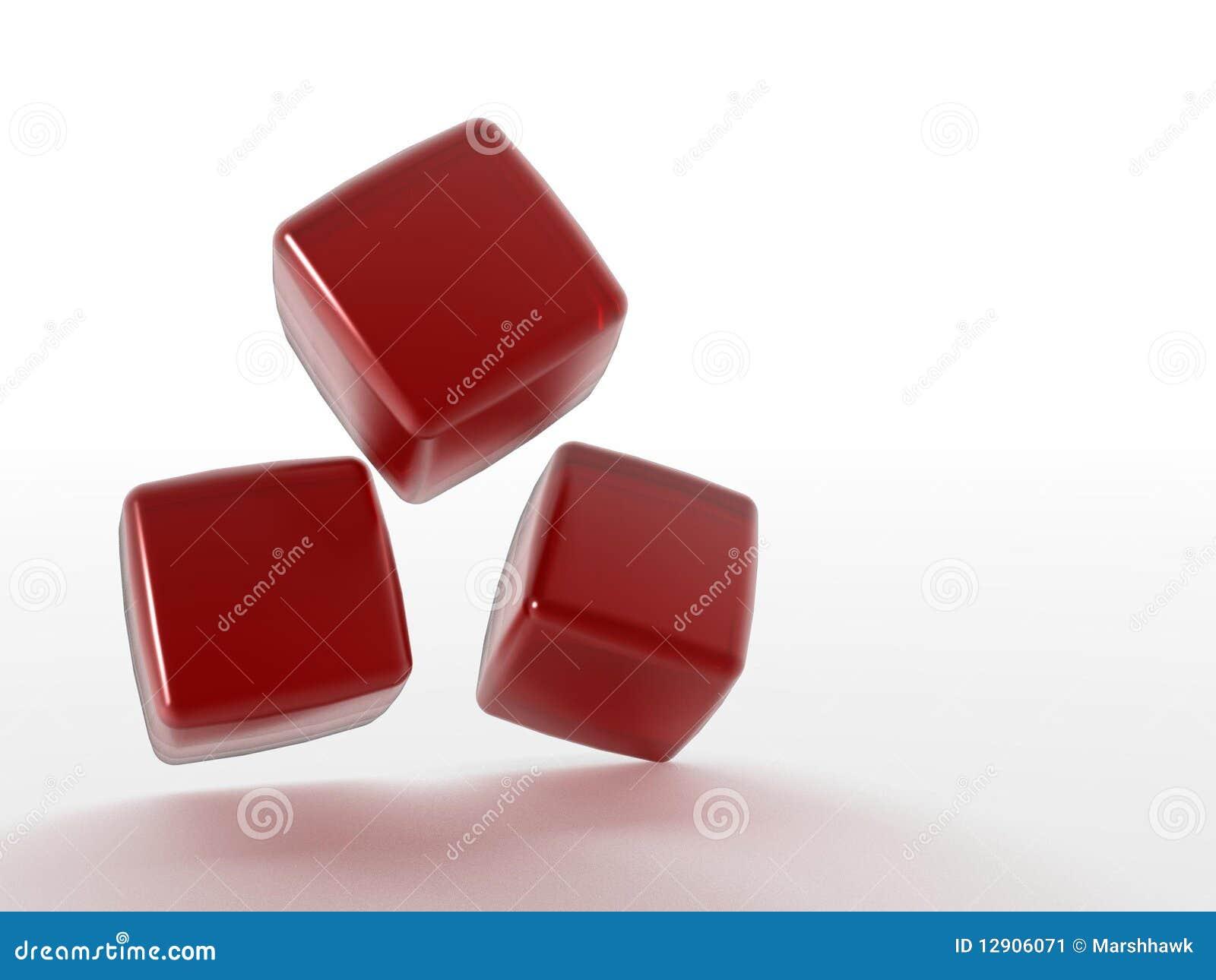 Cubi rossi tridimensionali illustrazione di stock for Immagini tridimensionali gratis