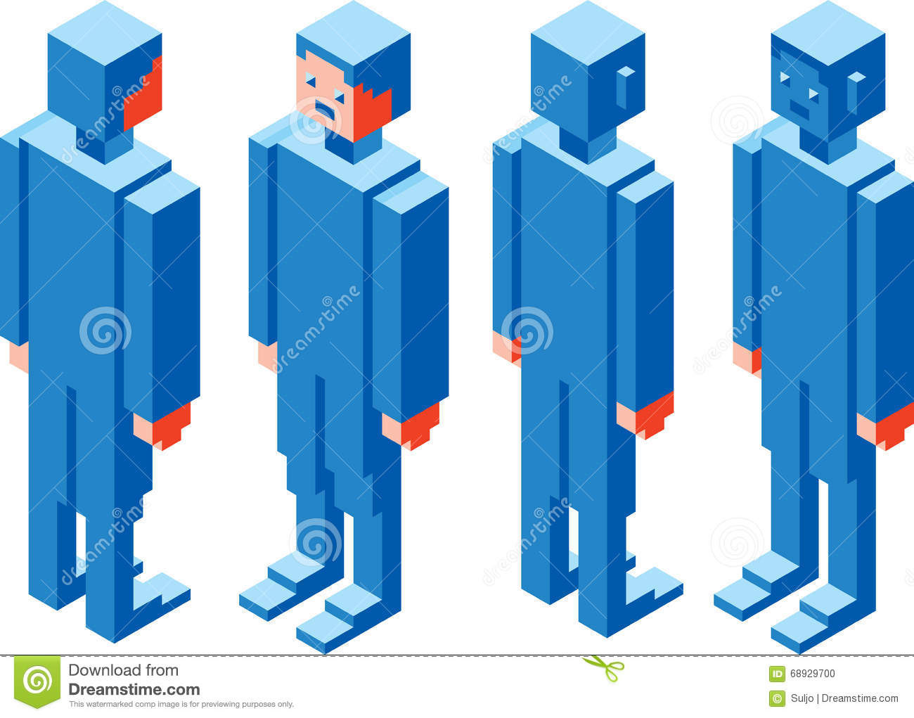 Cubic character stock vector illustration of player 68929700 cubic character buycottarizona Gallery