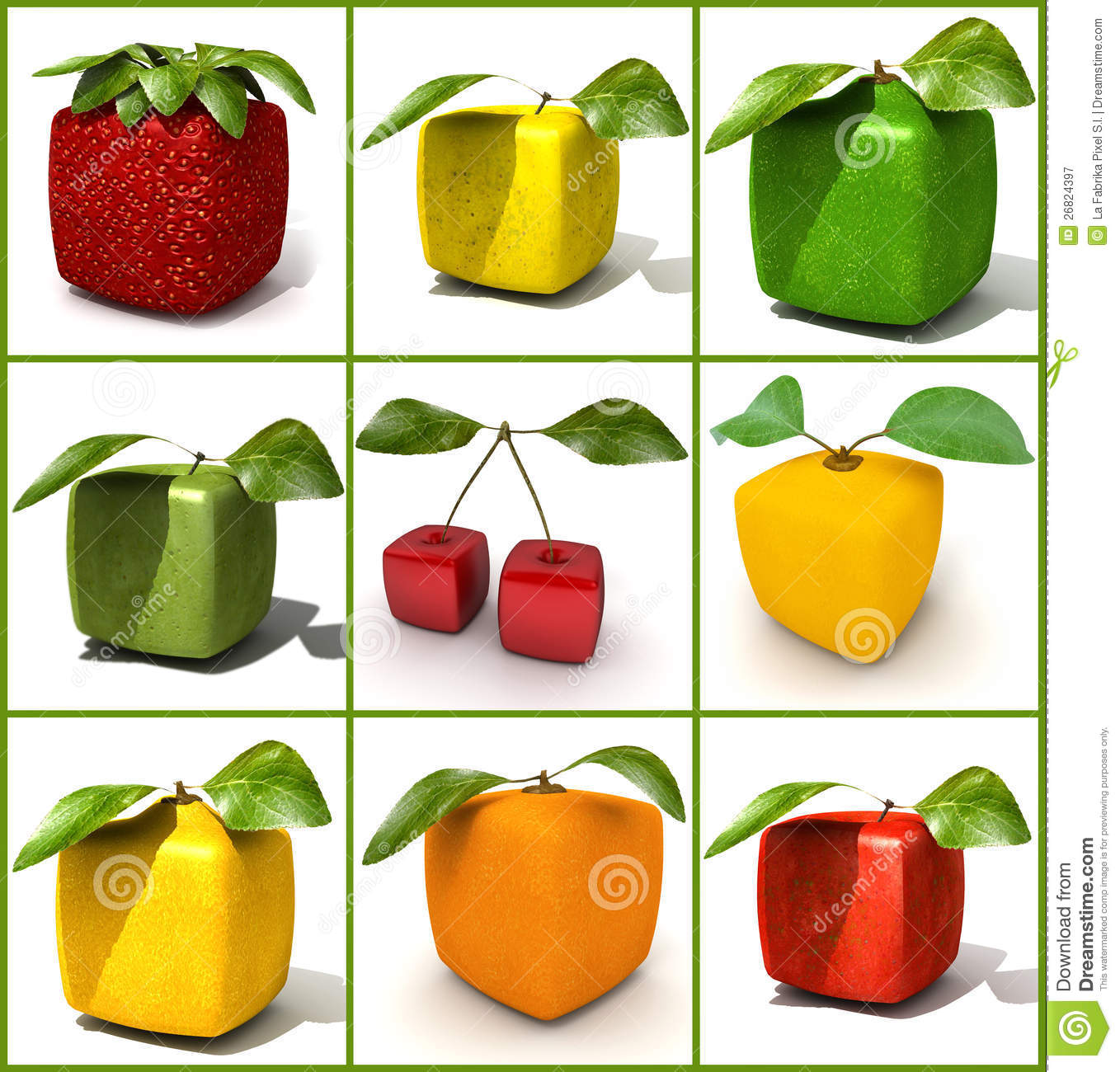 Cubic Fruit Design S