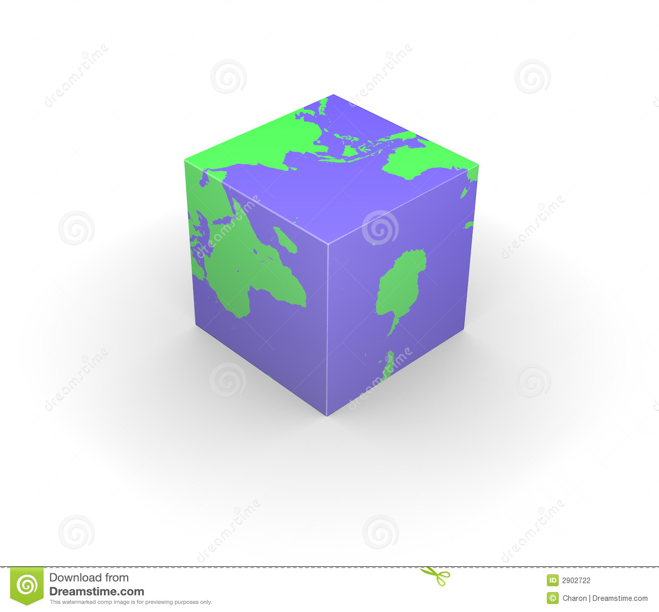 cubic globe earth cube square stock illustration image. Black Bedroom Furniture Sets. Home Design Ideas