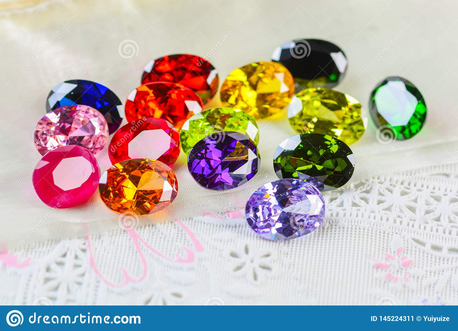 Cubic zirconia gemstones