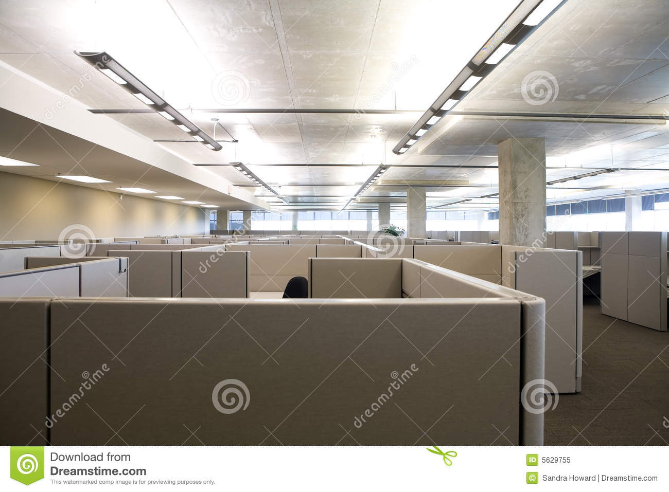 Cubicles In Clean Modern Office Stock Image Image 5629755