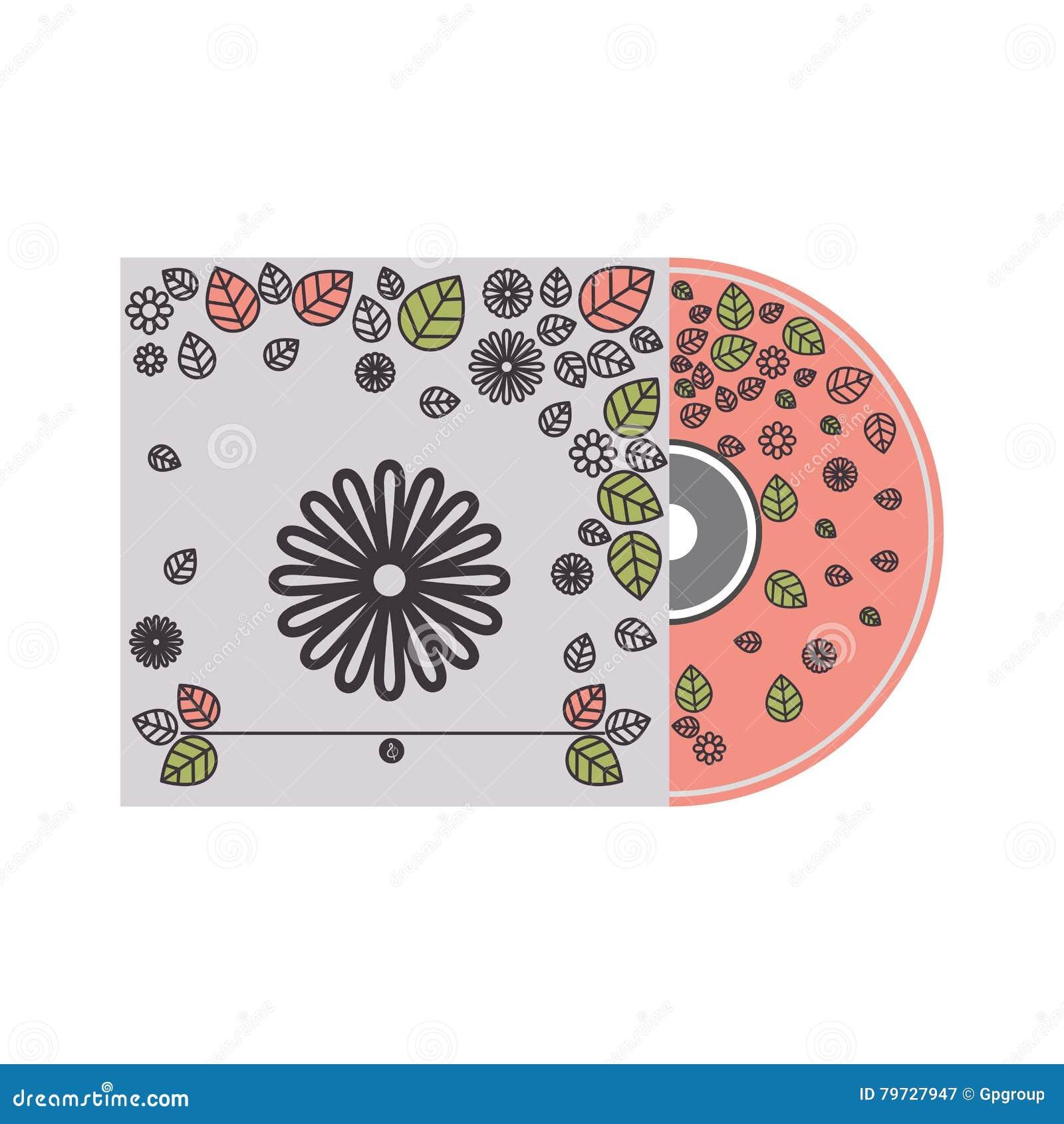 Cubierta cd de la silueta con la decoración floral
