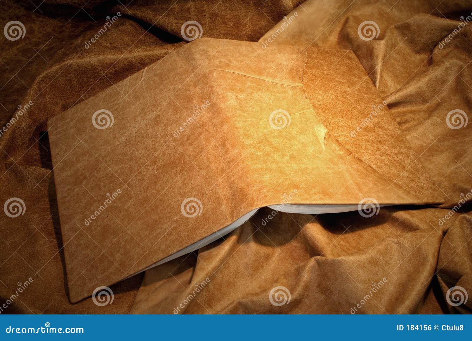 Cubierta de libro de cuero
