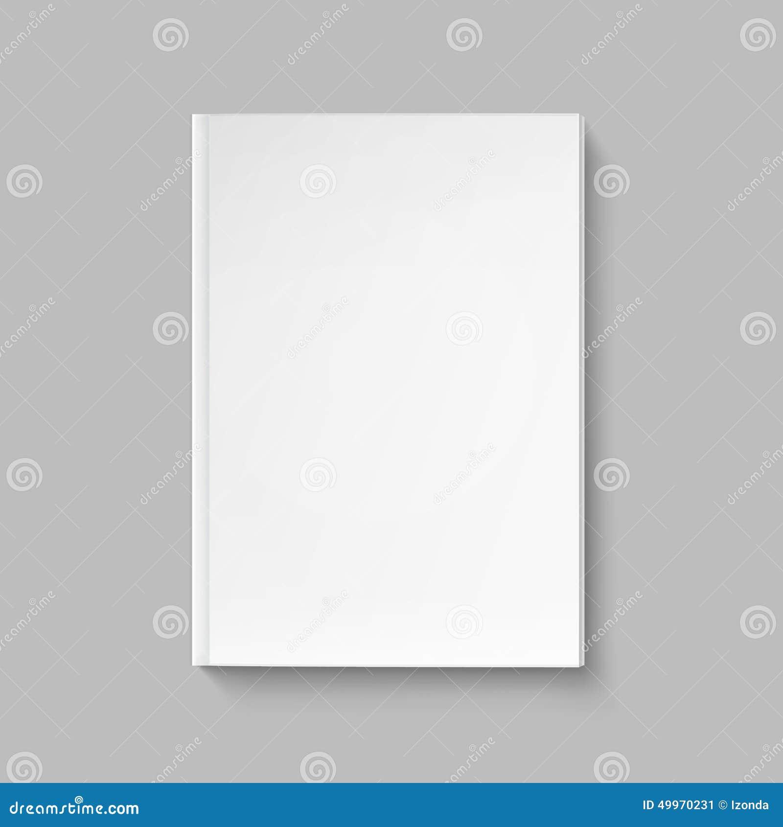 Cubierta En Blanco Del Vector Para La Plantilla Del Libro O De La ...