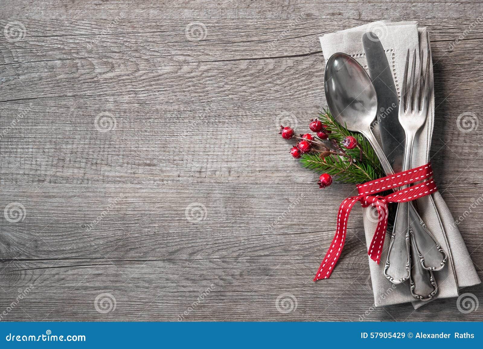 Cubierto de la tabla de la Navidad