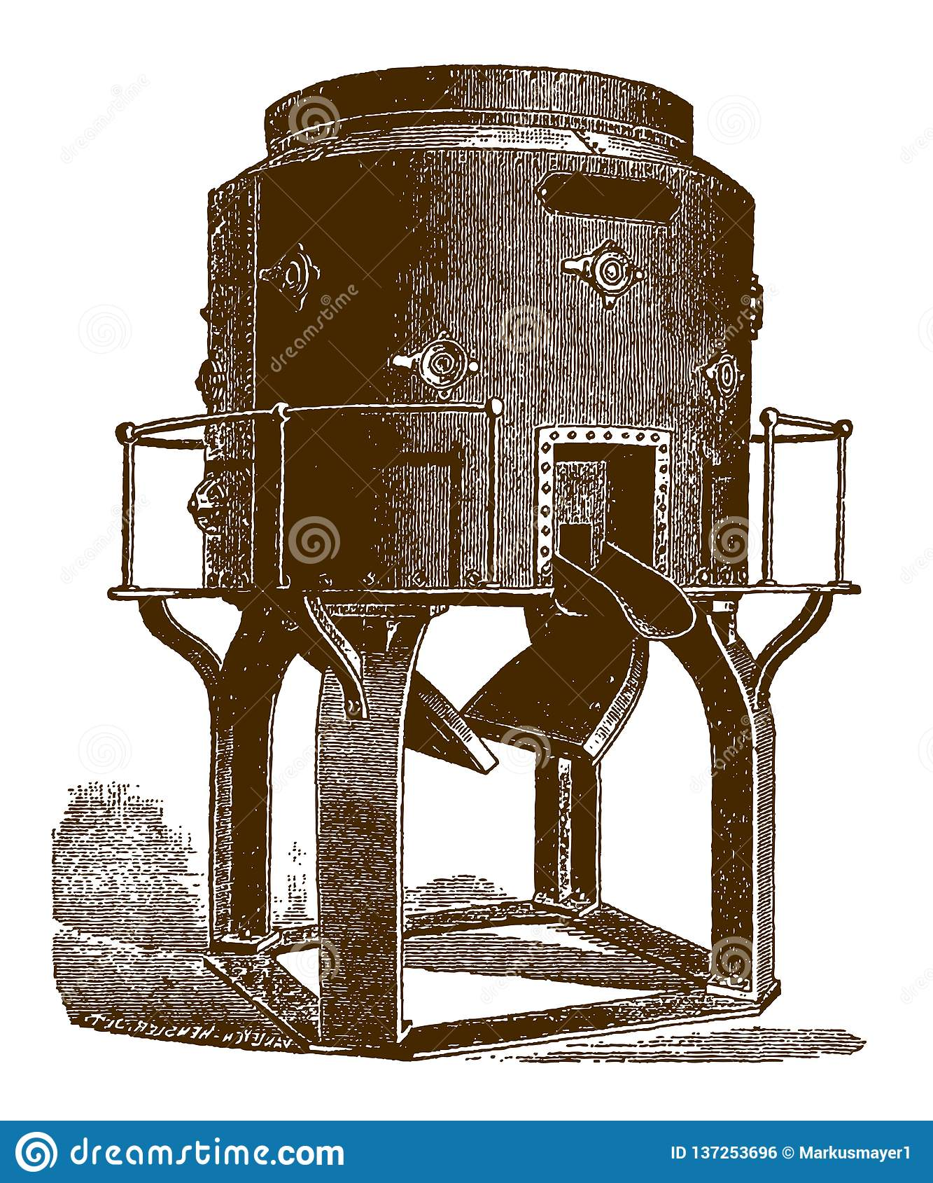 Cubilote histórico para el hierro de fusión