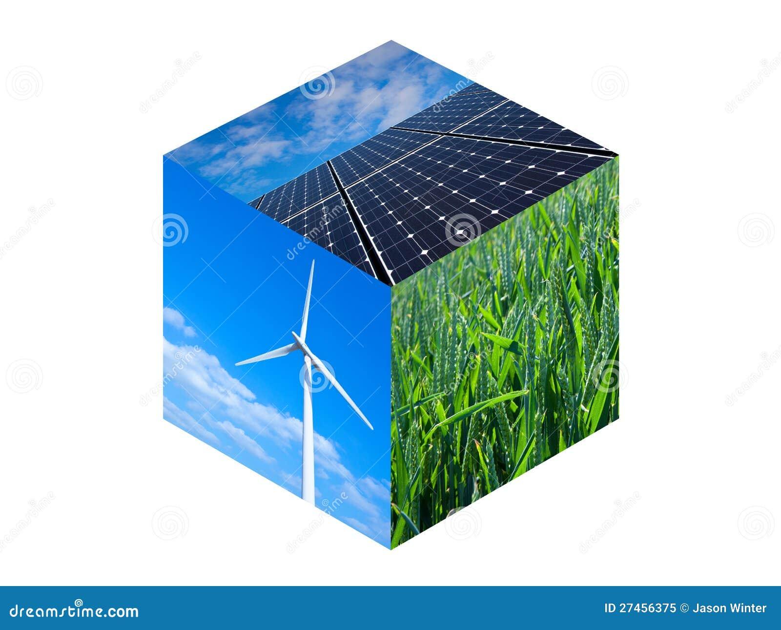 Cubo da energia renovável