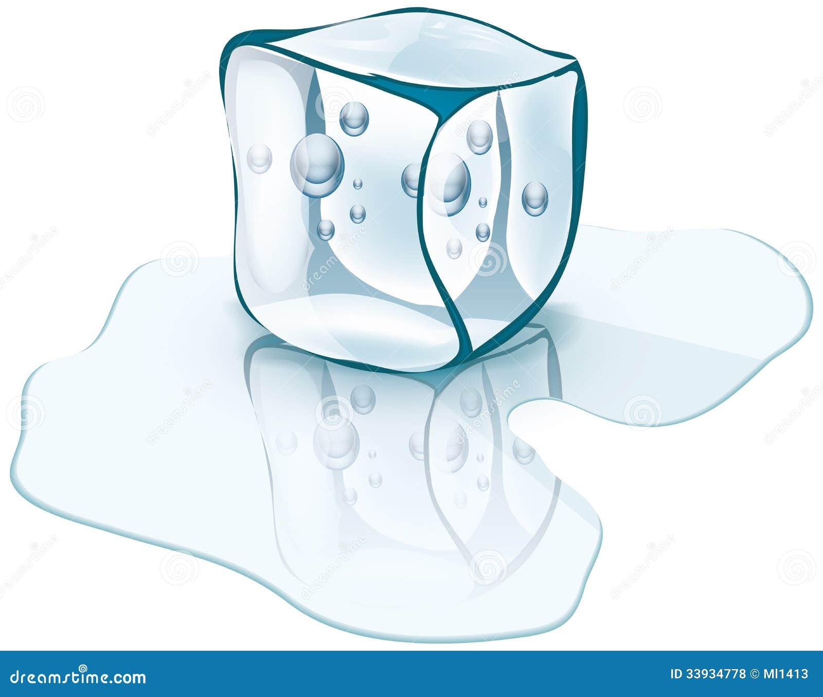 Cubo De Gelo Ilustracao Do Vetor Ilustracao De Unico 33934778
