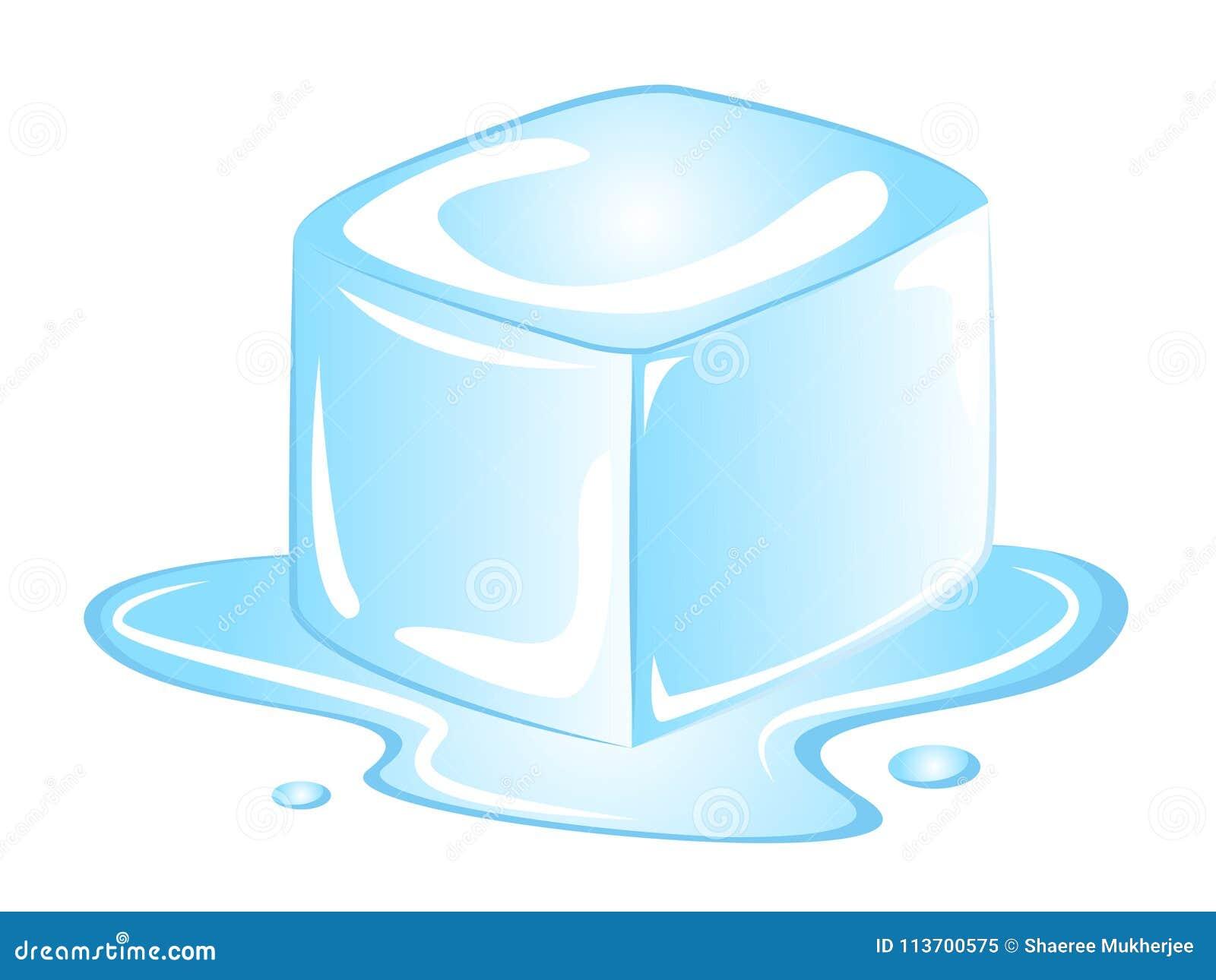Cubo De Gelo Dos Desenhos Animados Do Vetor Ilustracao Do Vetor