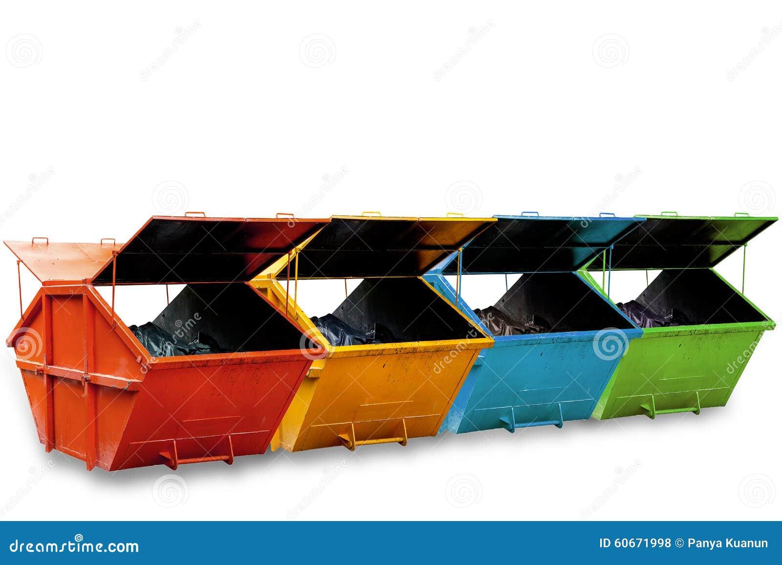 Cubo de la basura industrial contenedor para la basura - Cubos de basura industriales ...