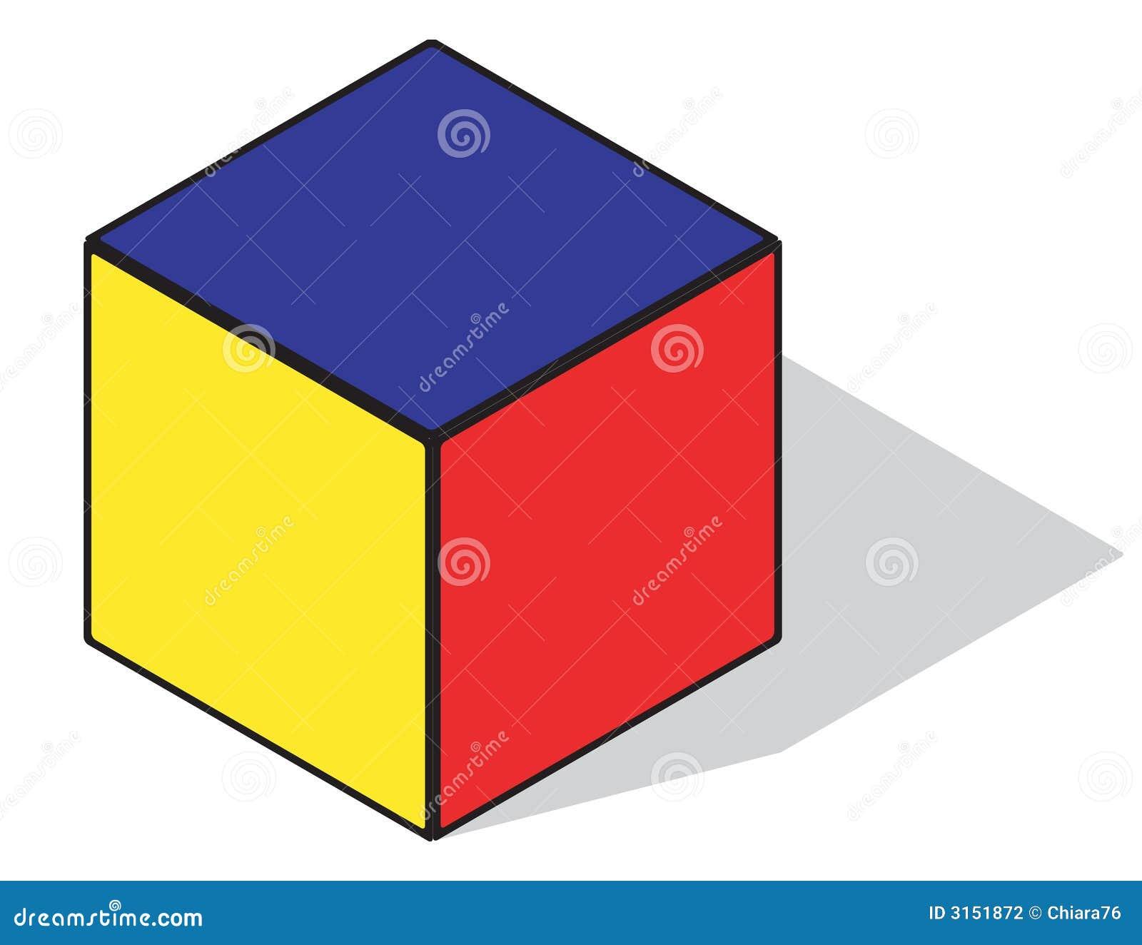 Cubo del color primario ilustraci n del vector for Cubo de luz para jardin