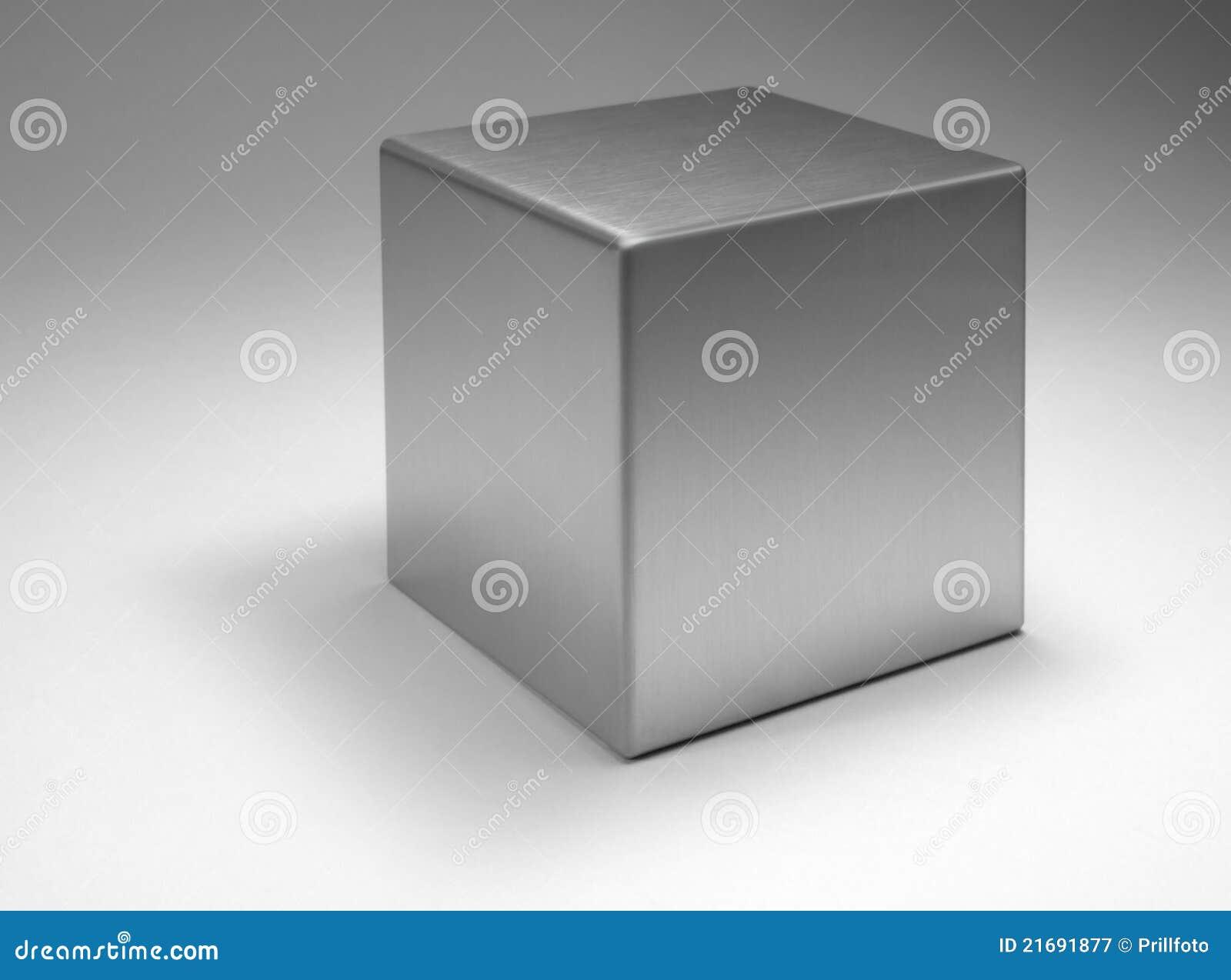 Cubo metallico solido fotografia stock libera da diritti - Cubo metalico ikea ...