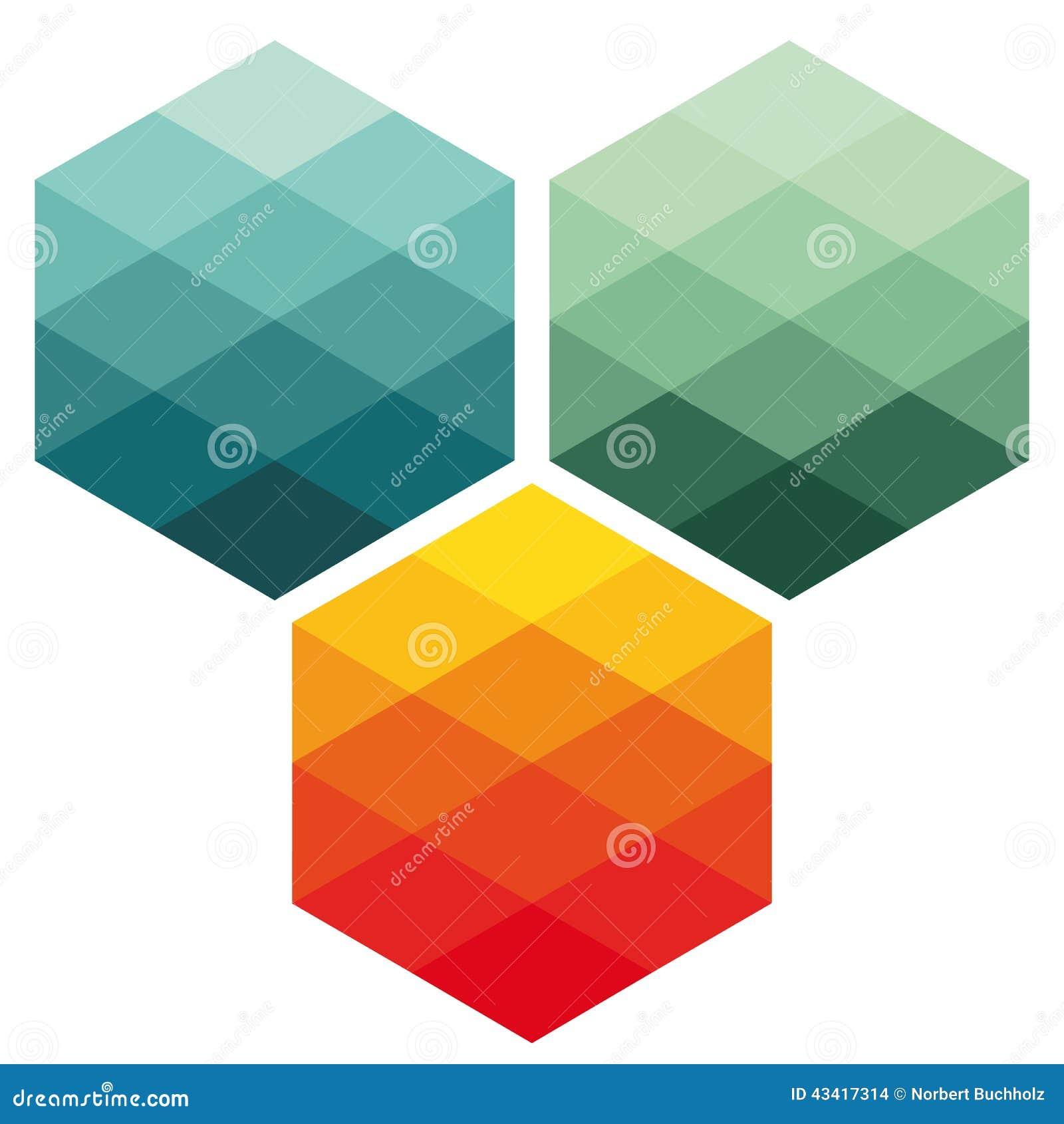 Cubos abstratos coloridos