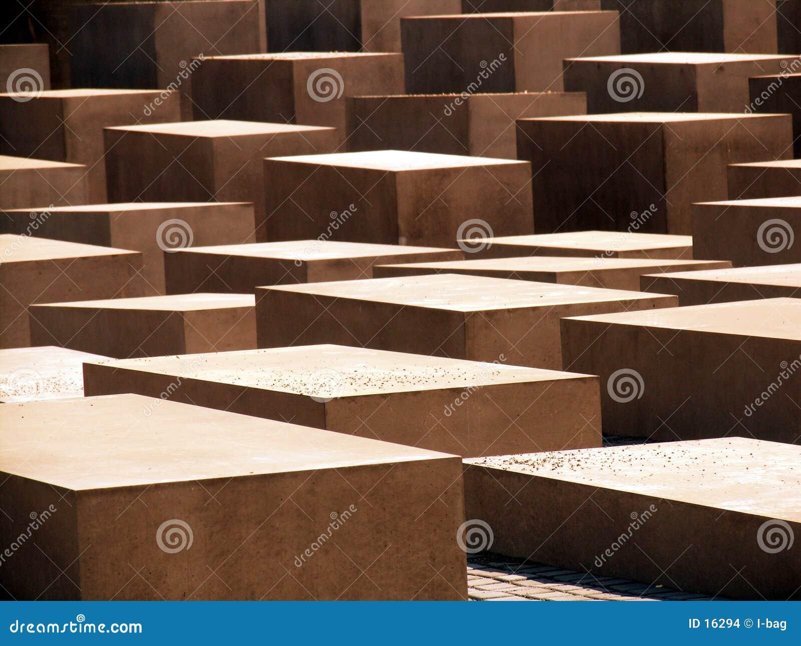 Cubos abstratos do cimento