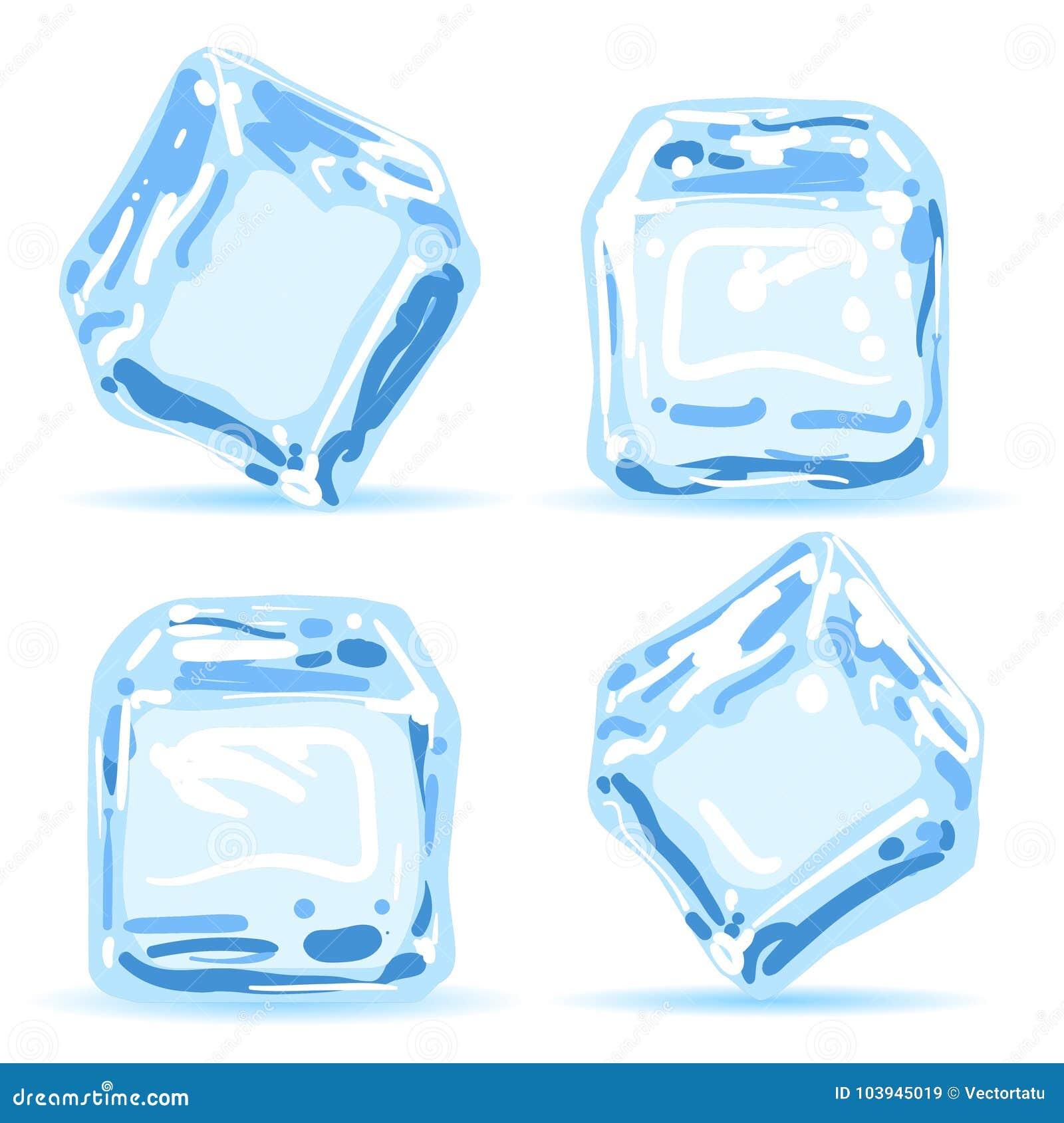 Cubos de gelo ajustados