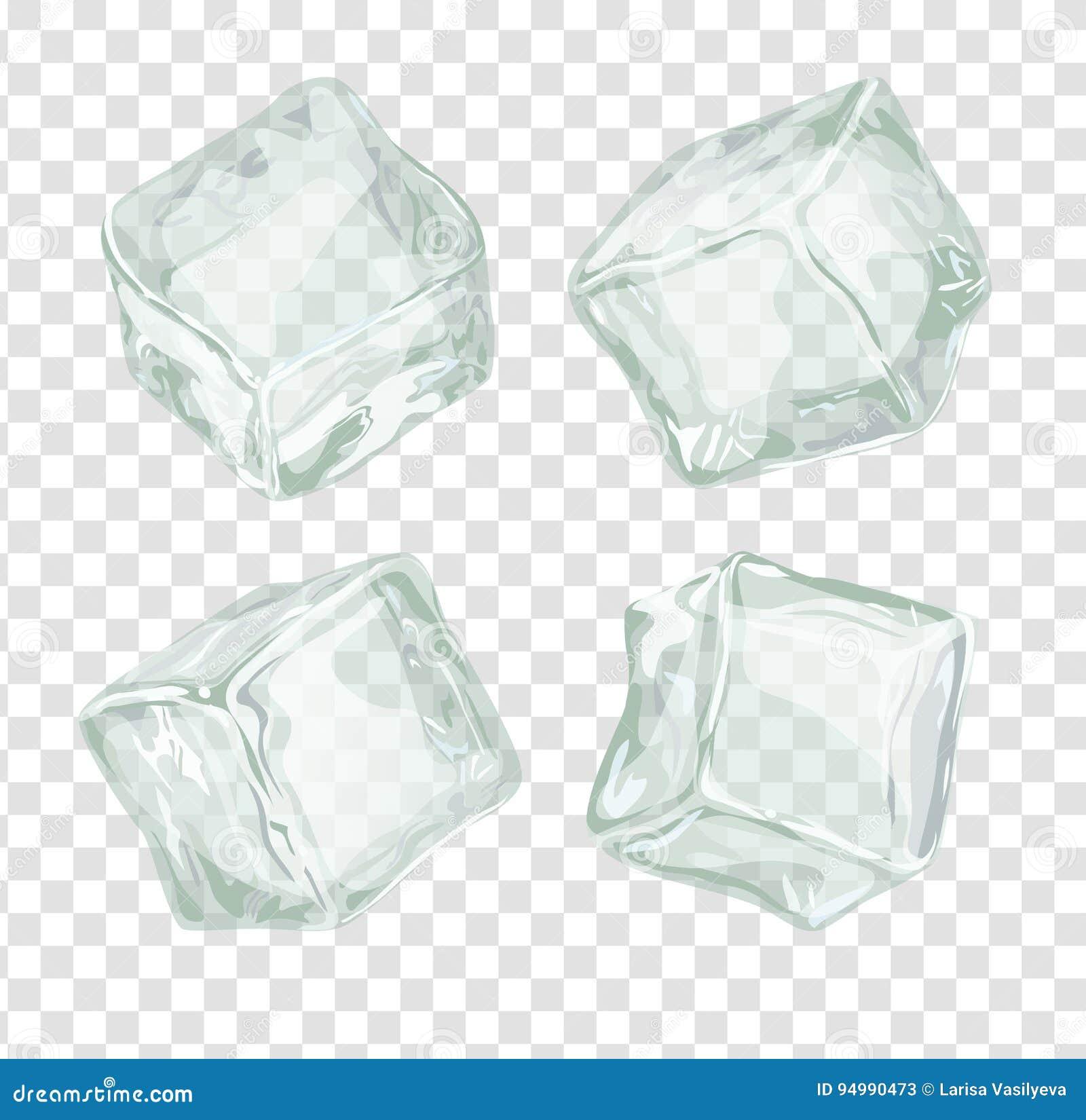 Cubos de hielo fijados