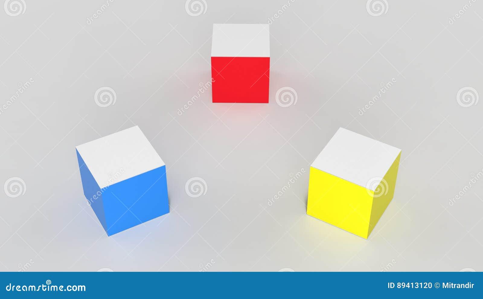 Cubos de Luminecent em cores preliminares