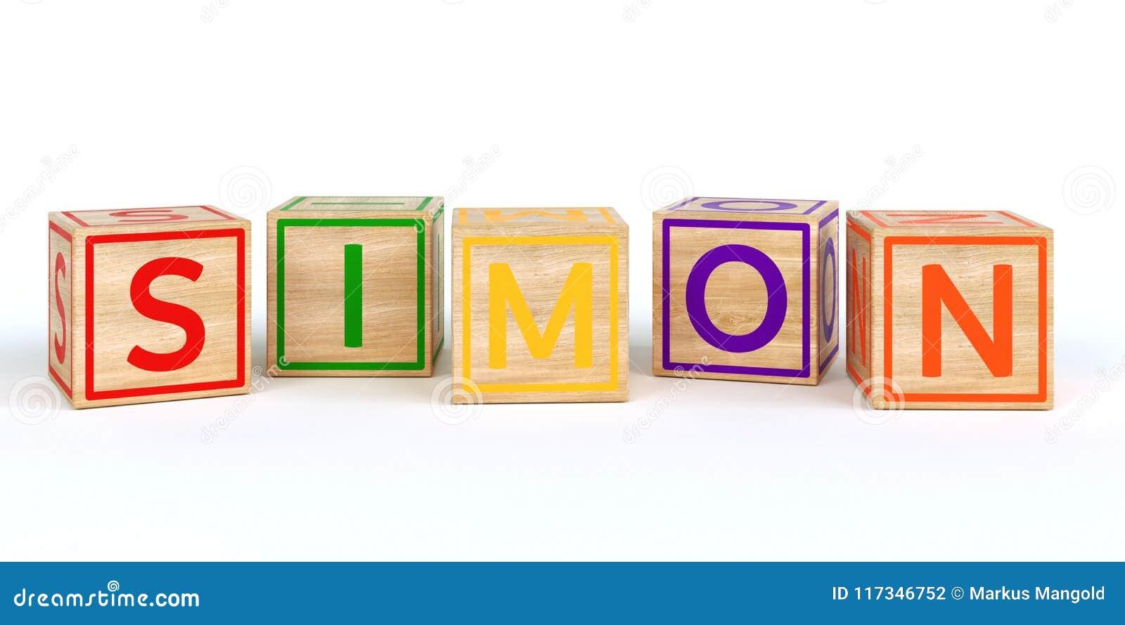 224ad65b0e5c Cubos De Madera Aislados Del Juguete Con Las Letras Con El Nombre ...