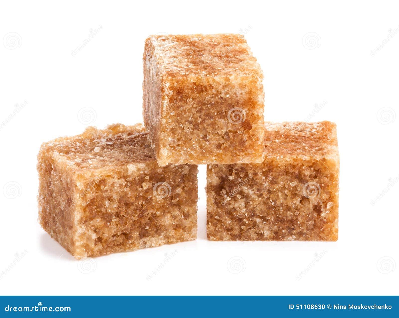 Cubos do açúcar de bastão de Brown