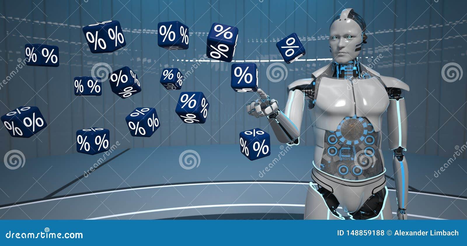 Cubos Humanoid dos por cento do robô