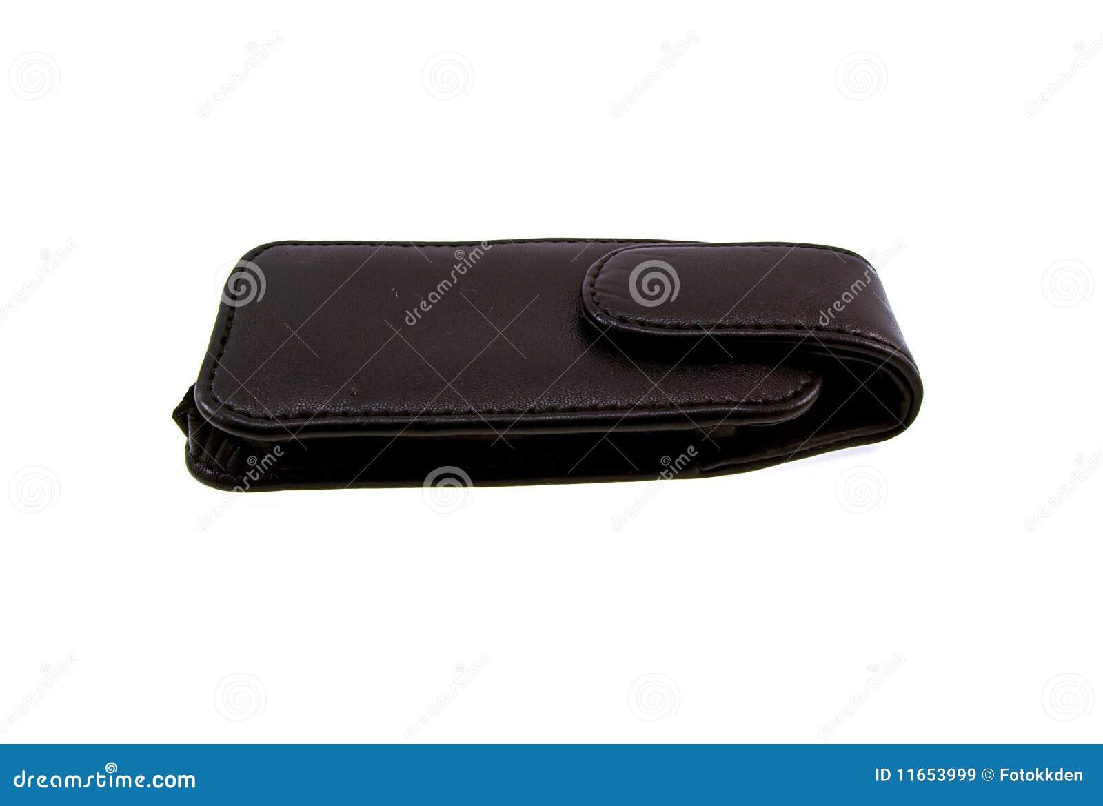 Cubra la cubierta con cuero negra