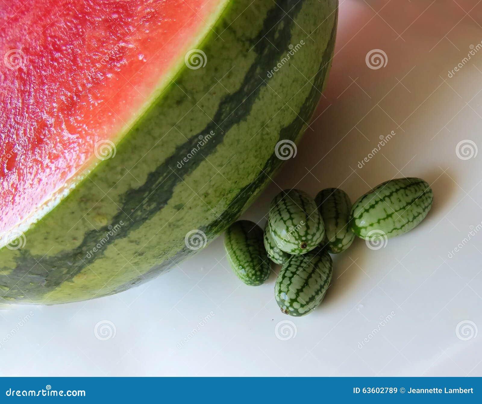 Cucamelon com melancia