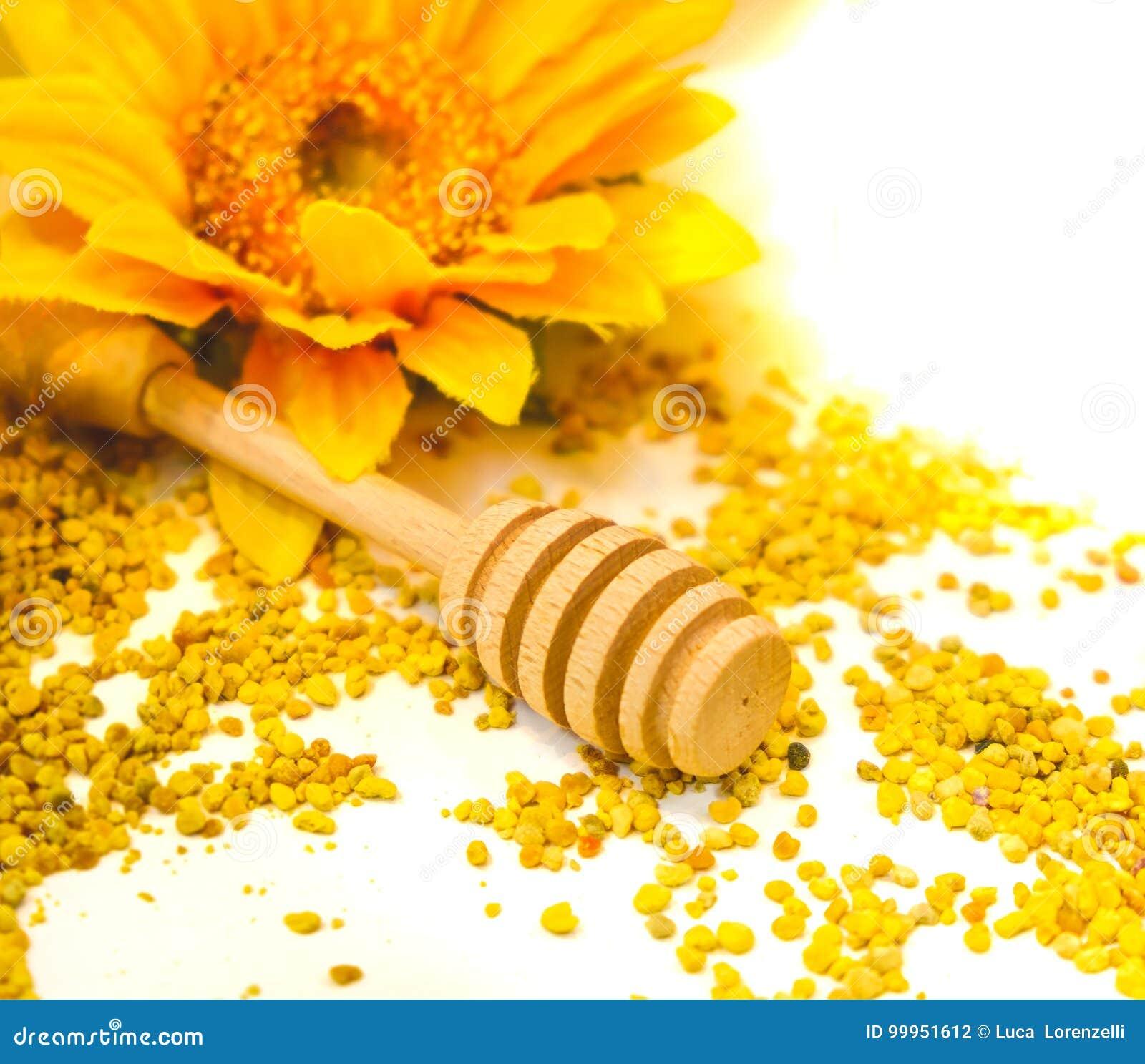 Cucchiaio di legno dell acquerugiola del fondo del dispositivo di gocciolamento del miele dei granelli del propoli