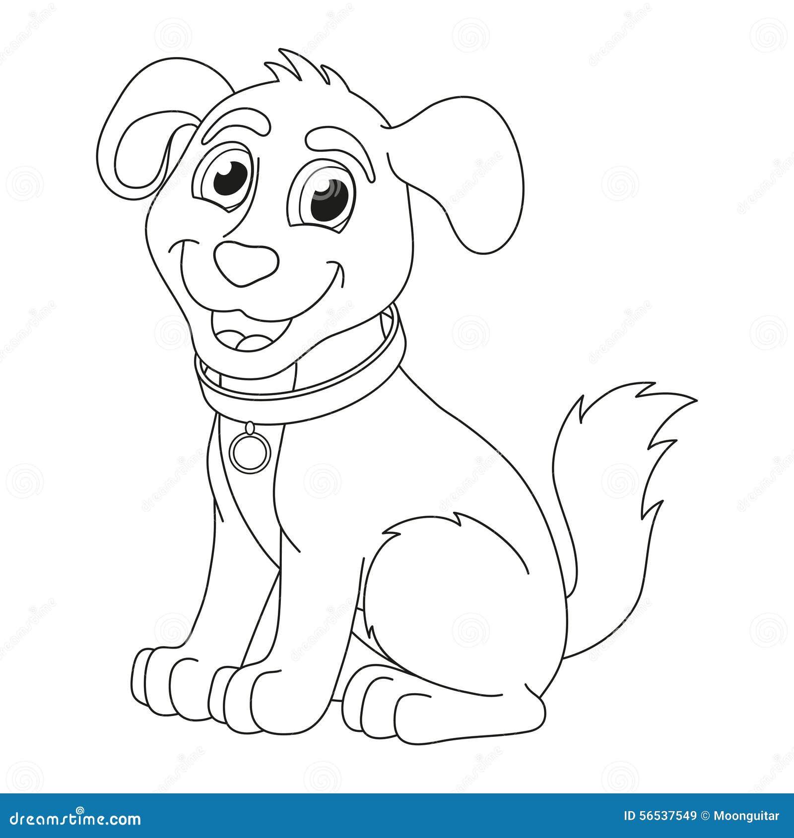 Cucciolo del fumetto pagina del libro da colorare per i - Cucciolo da colorare stampabili ...