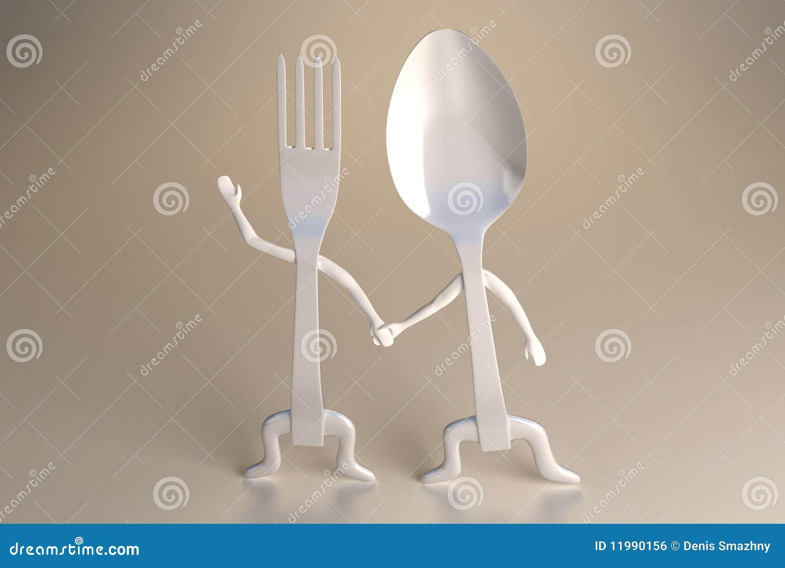 Cuchara y fork