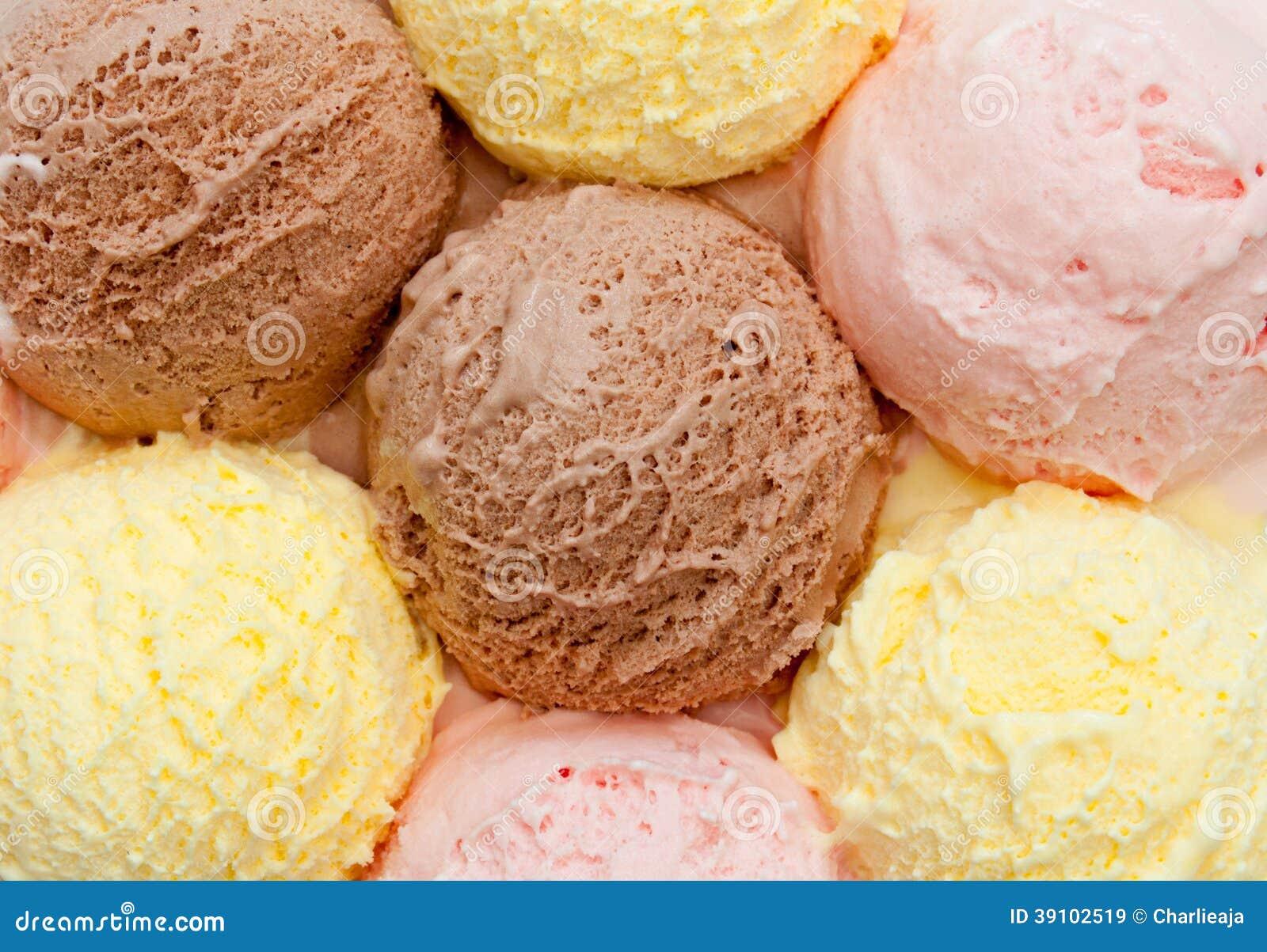 Cucharadas del helado