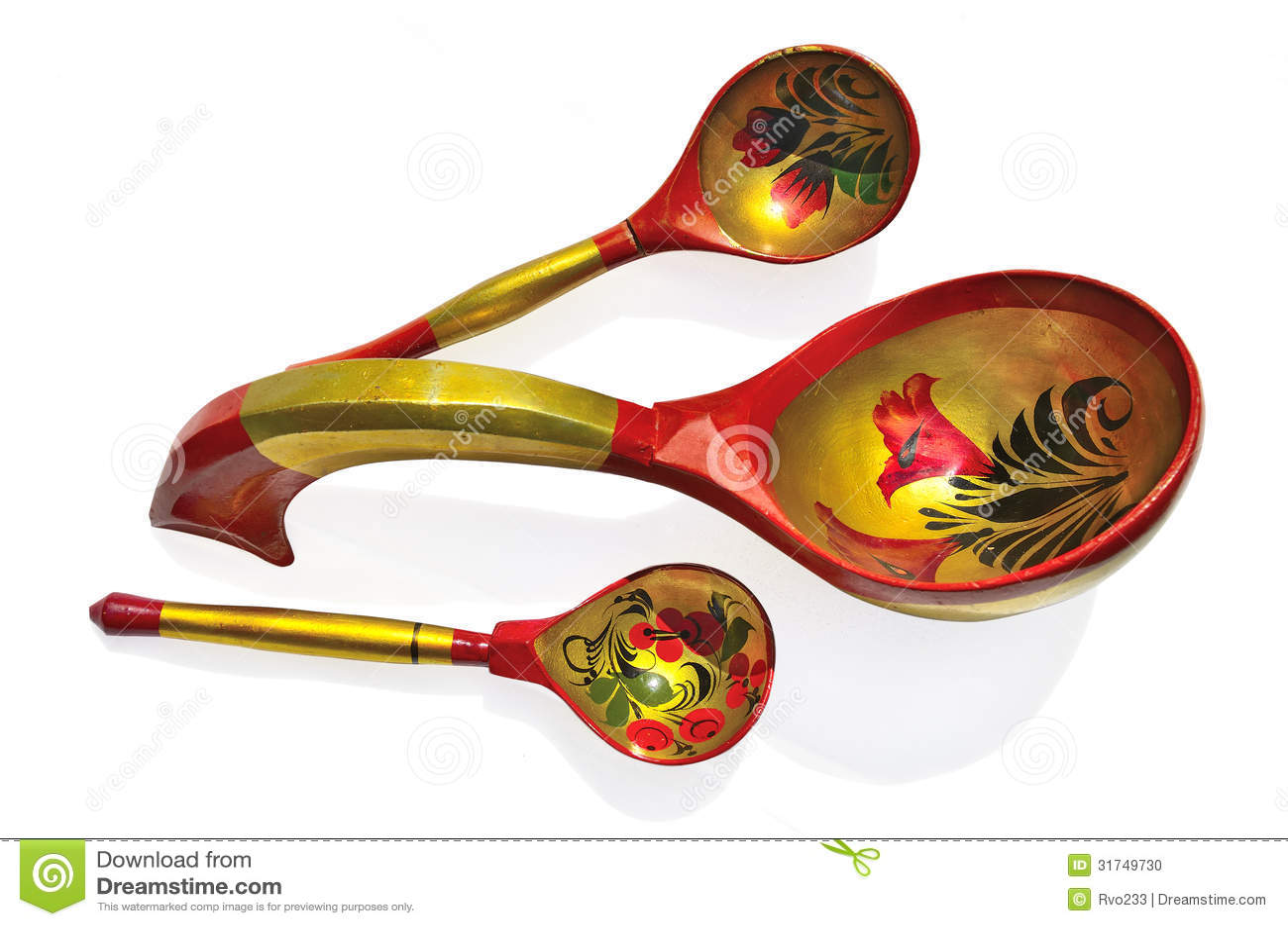 Pata de hoja de cuchara ruso vintage