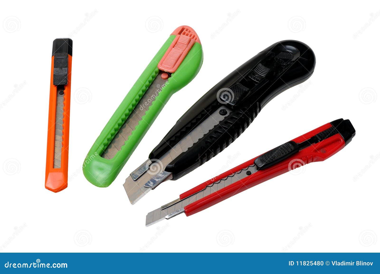 Cuchillos para el papel del corte foto de archivo imagen for Cuchillo de corte