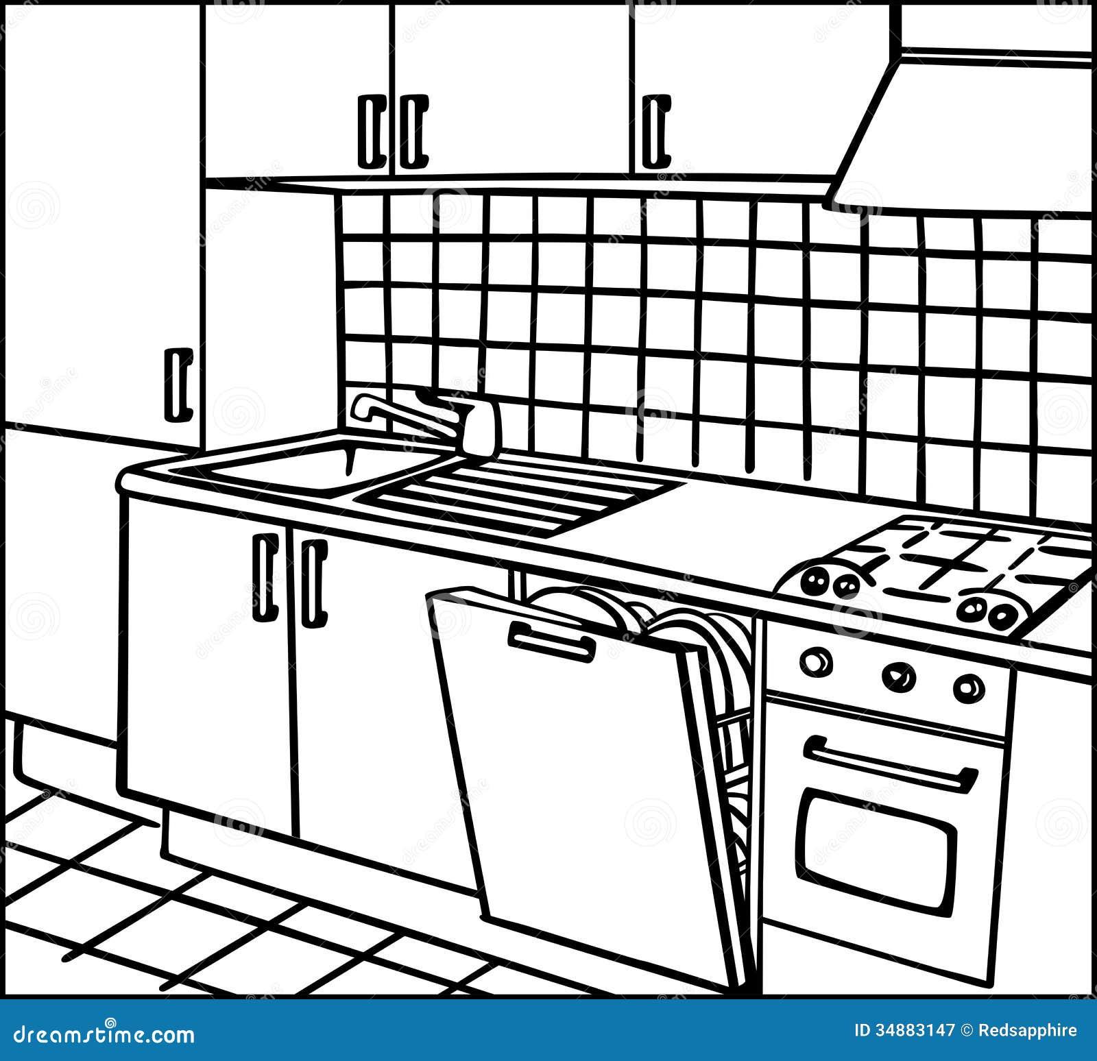 Cucina Fotografia Stock Libera Da Diritti Immagine: 34883147 #87AB20 1300 1275 Immagini Di Cucine Open Space