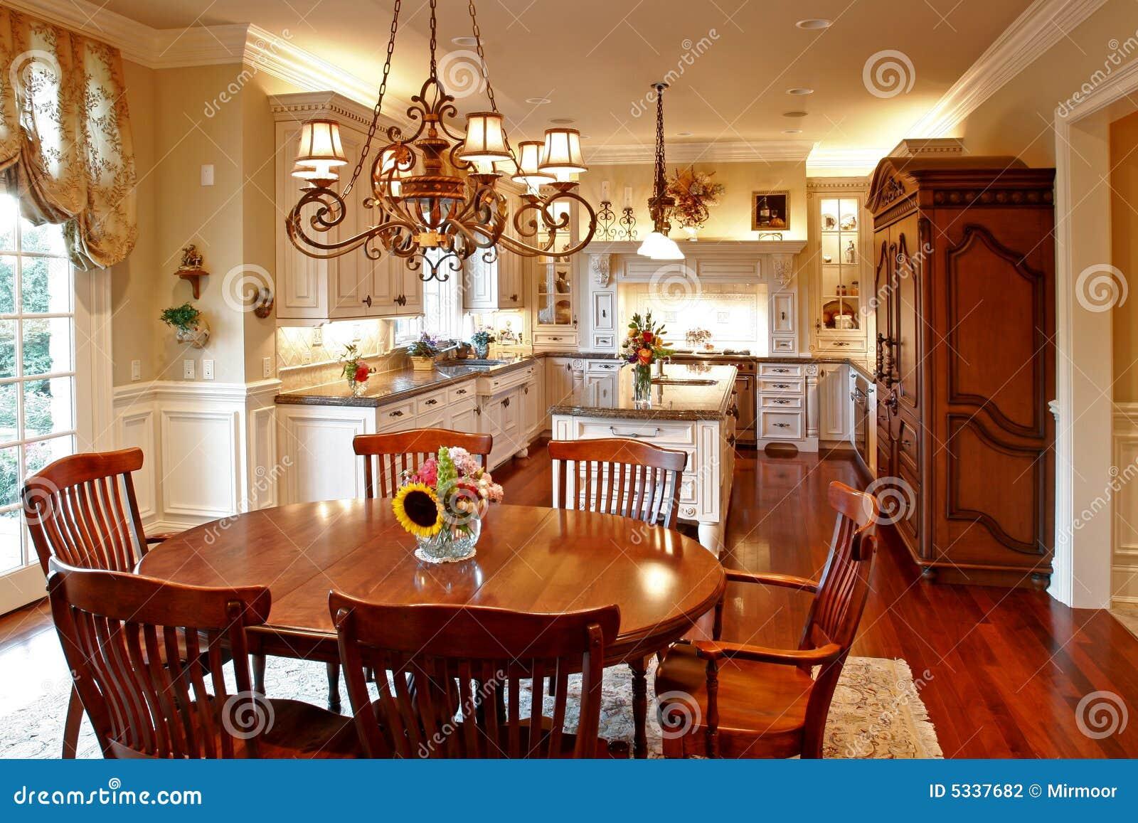 Cucina americana di lusso fotografia stock immagine 5337682 - Cucina di lusso ...