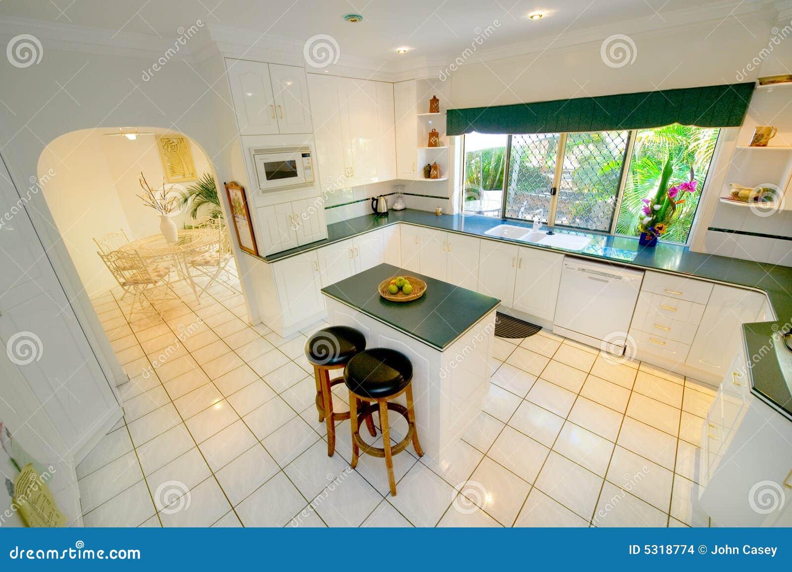 Cucina bianca fotografia stock. Immagine di apparecchi - 5318774