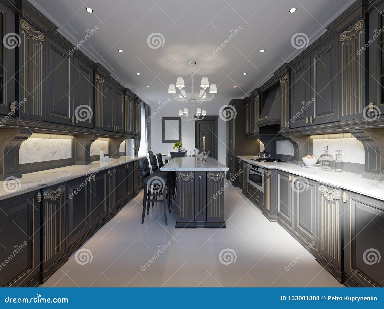 Cucina Classica, Interior Design Minimo Moderno Con I Dettagli Di ...