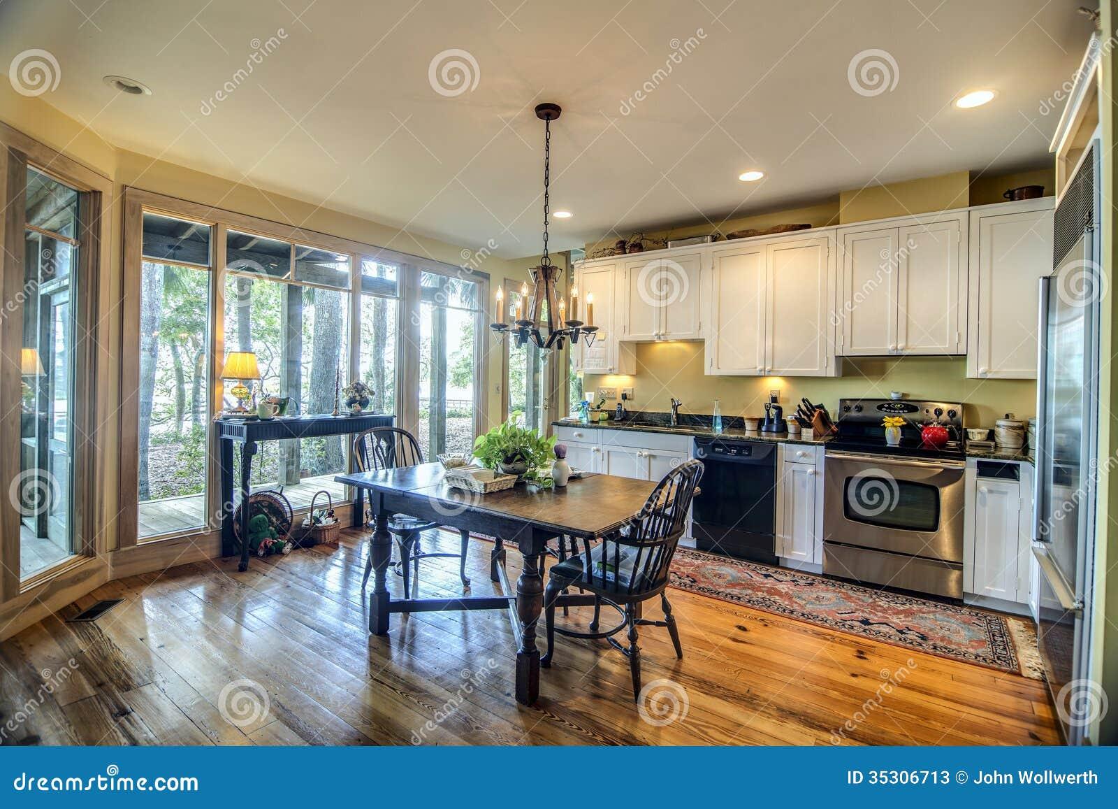 Cucina con le finestre di vista immagine stock immagine - Cucina con vetrata a vista ...